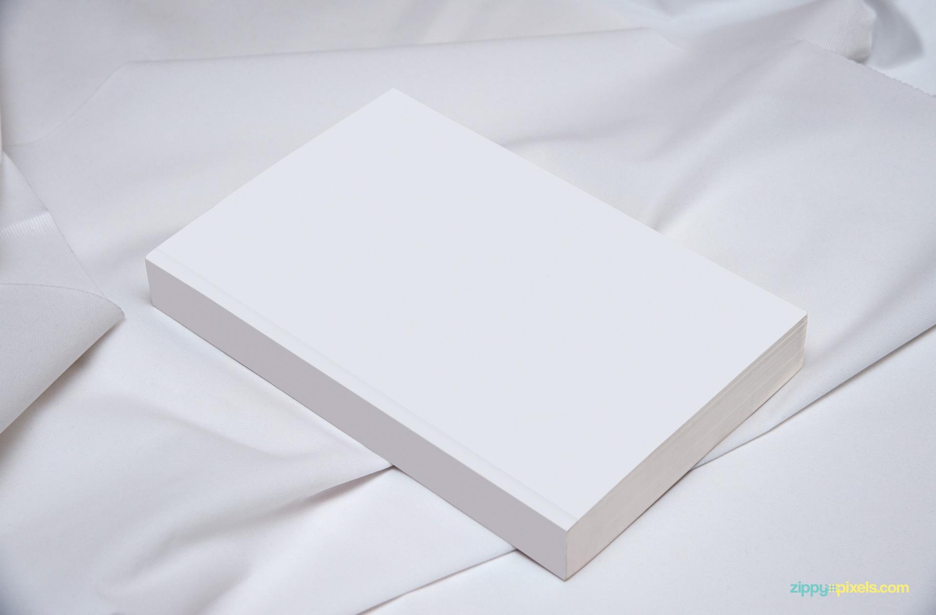PSD of plain white book mockup.