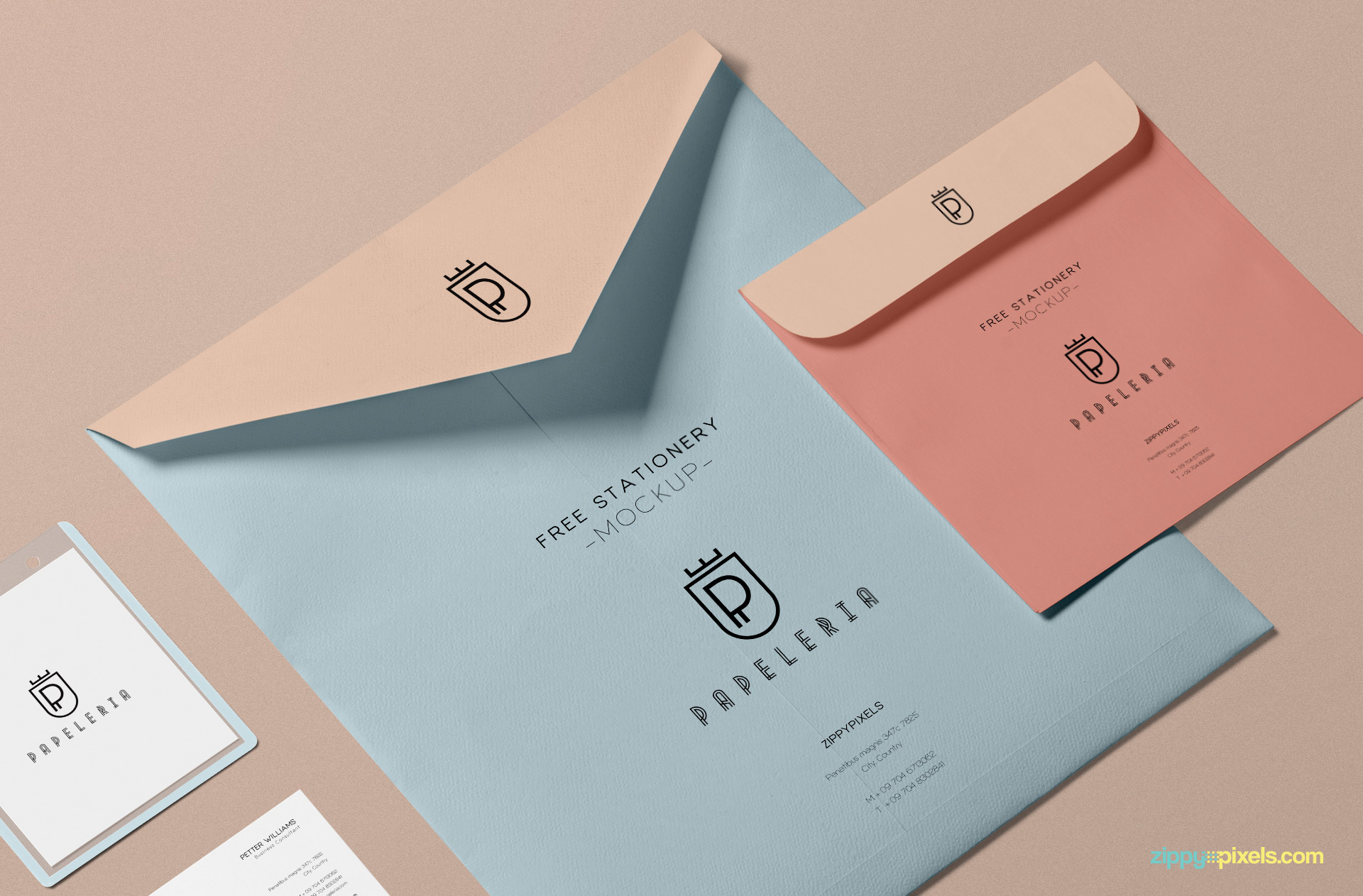 Add separate designs on both envelopes.