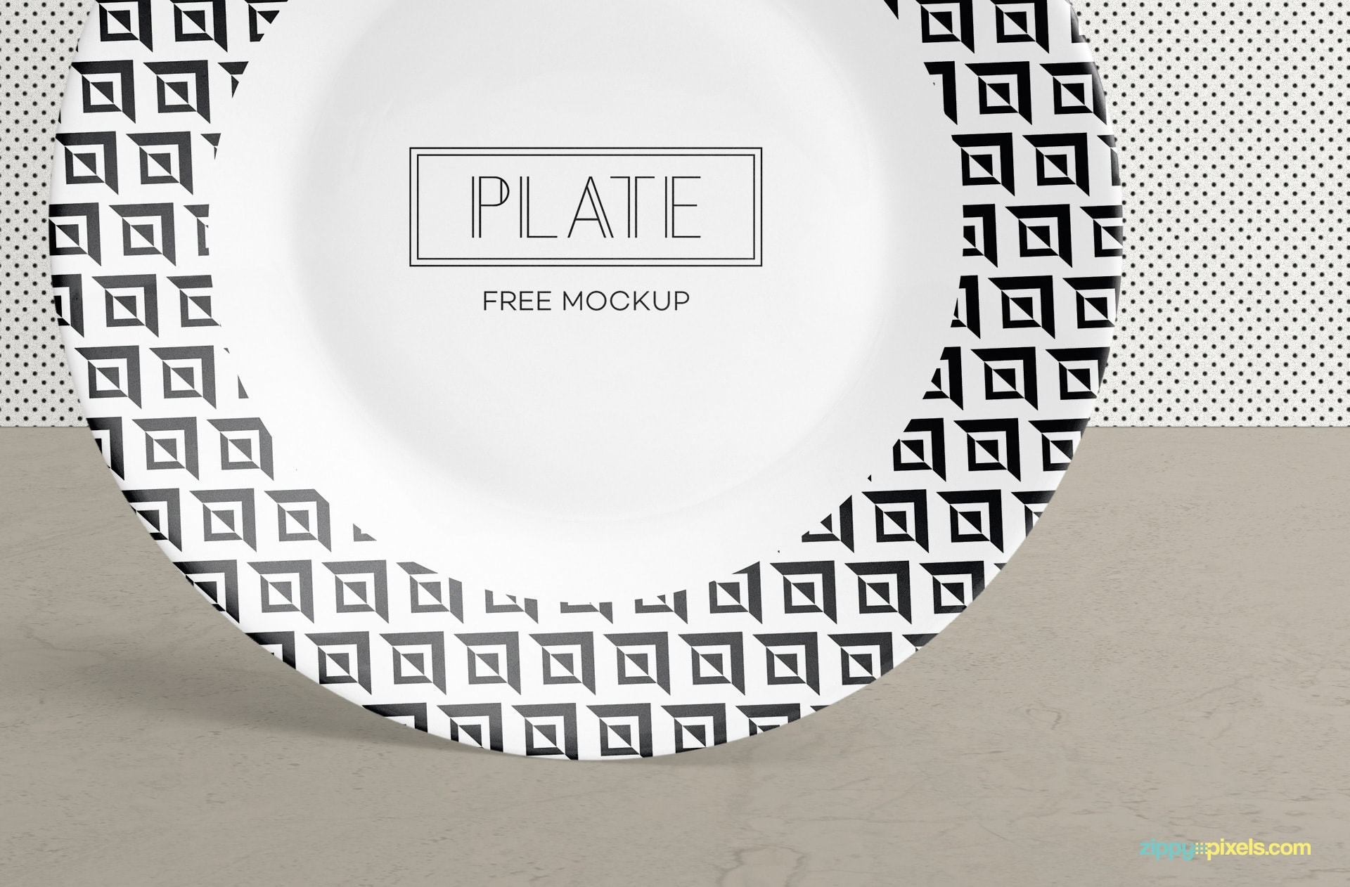 You can adjust the shadows of this standing plate mockup.