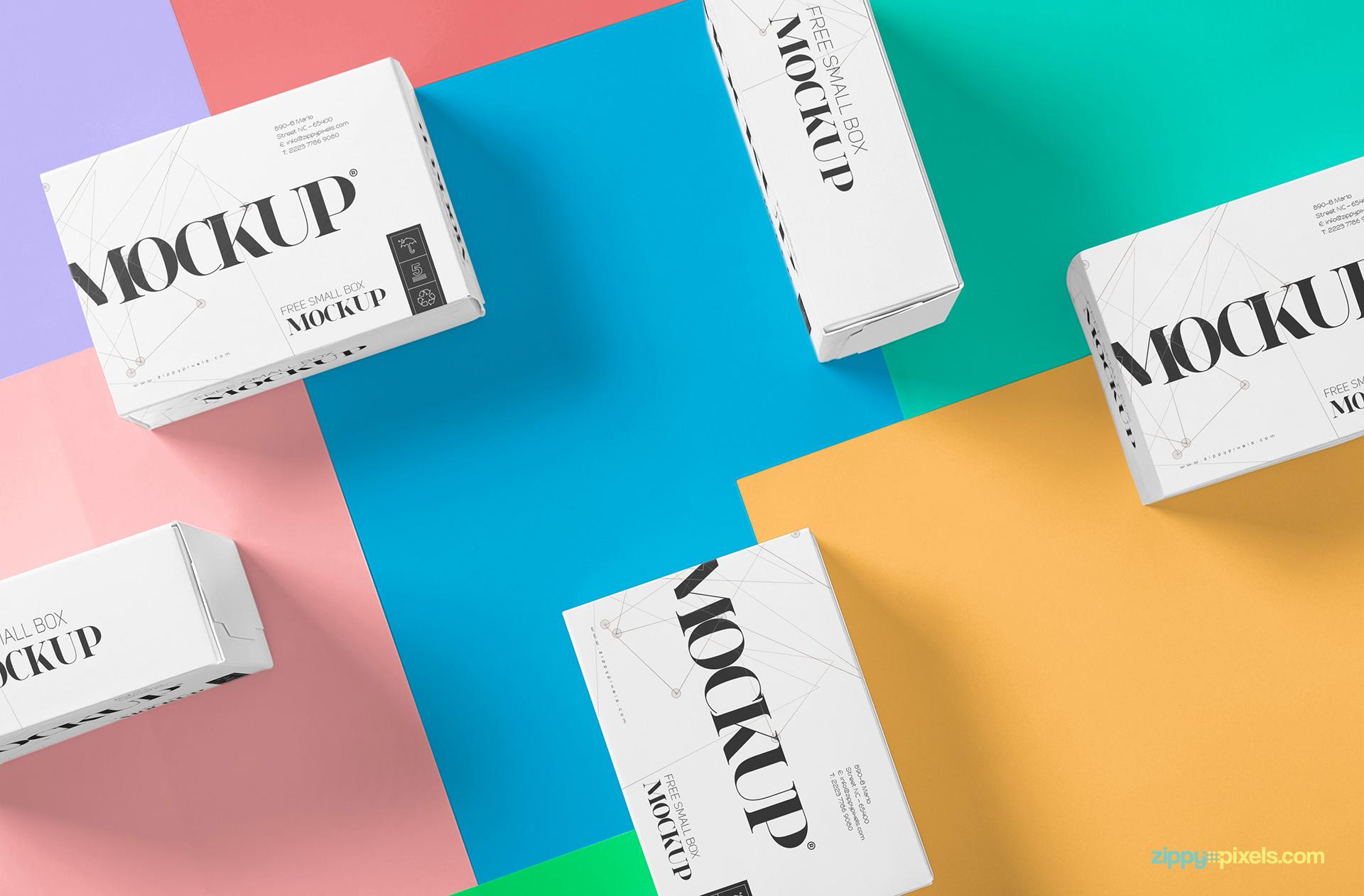 Beautiful Packaging Box Mockup Free Zippypixels
