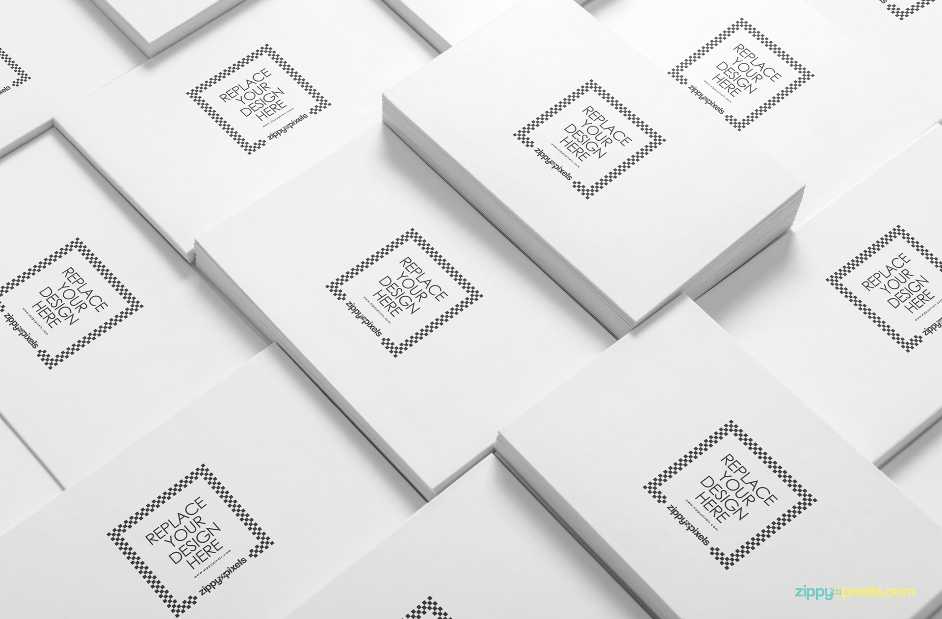 Customize all of the plain cards with your designs.