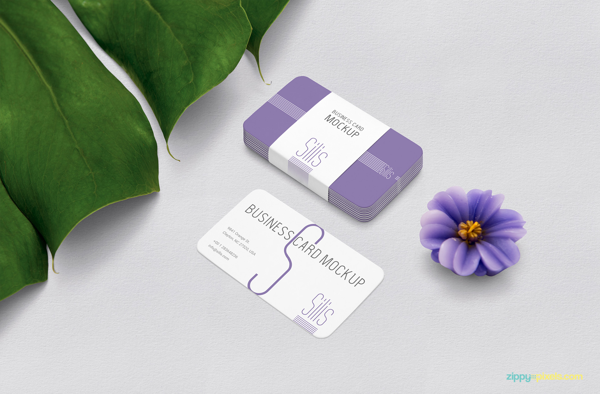 Business card mockup free PSD.