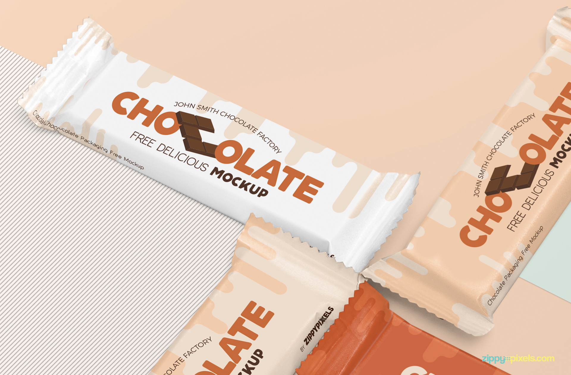 PSD of the chocolate mockup.