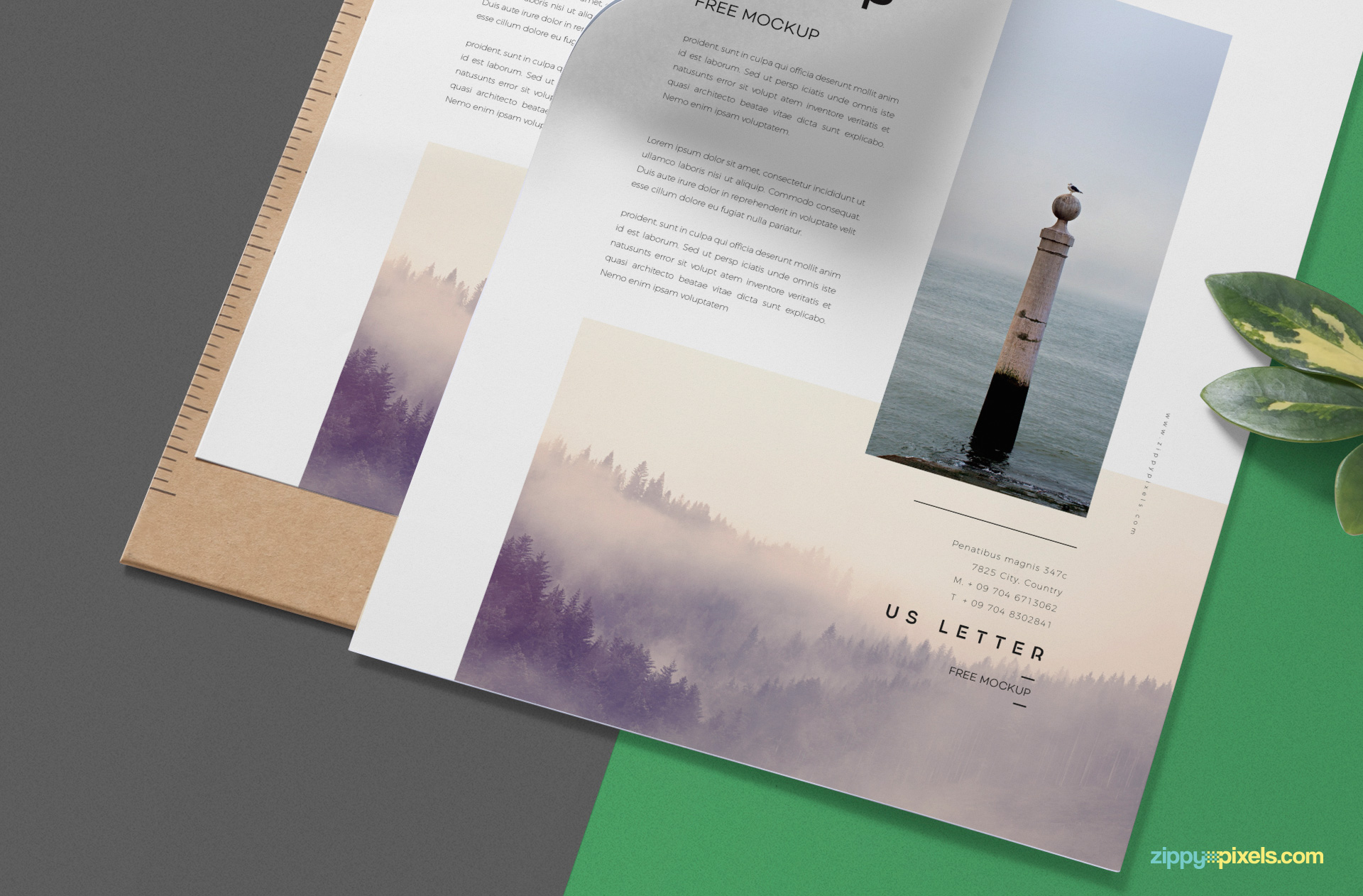 Clipboard under the letterhead mockup has the changeable color option.