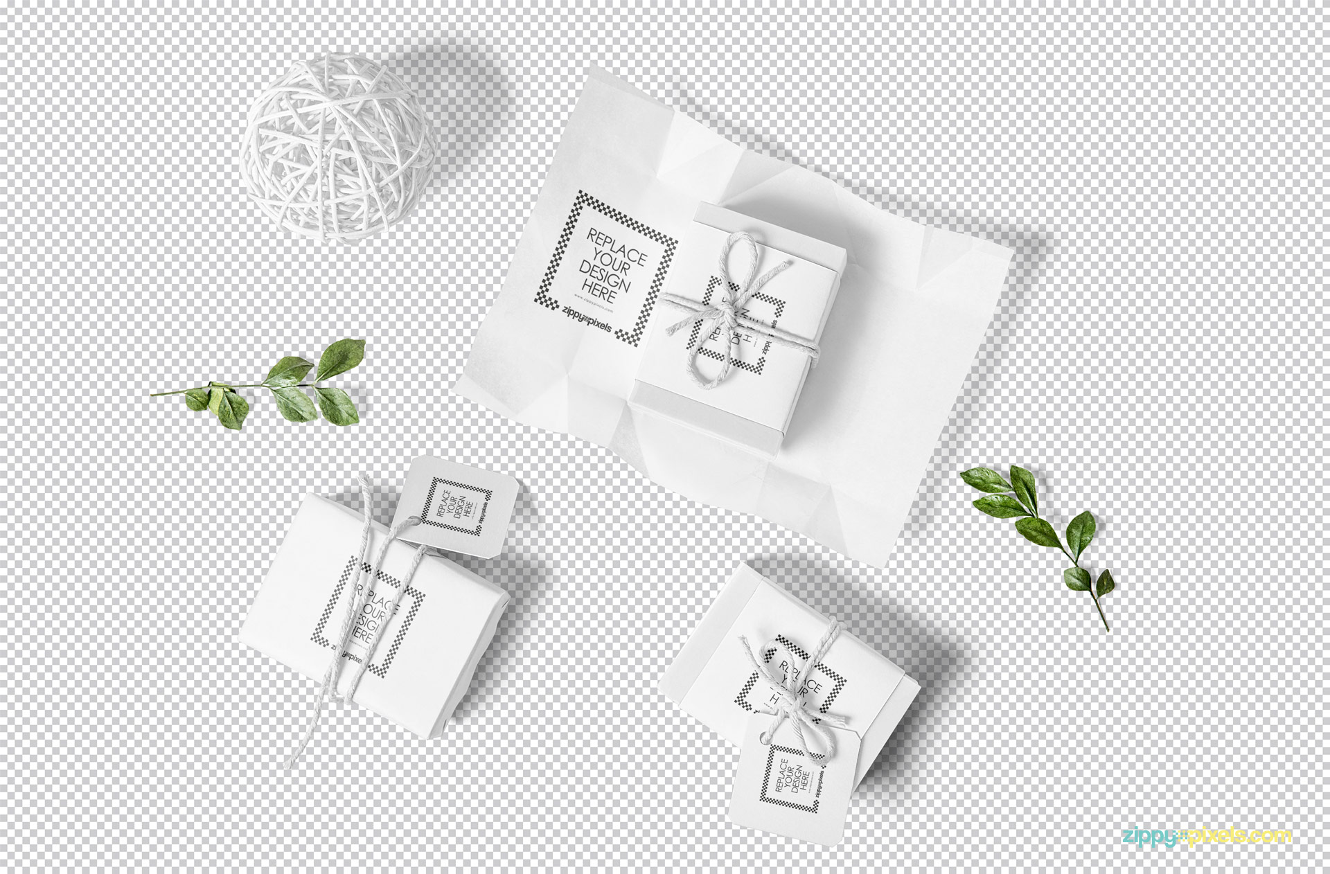 Use Photoshop to customize the craft soap packaging mockup.