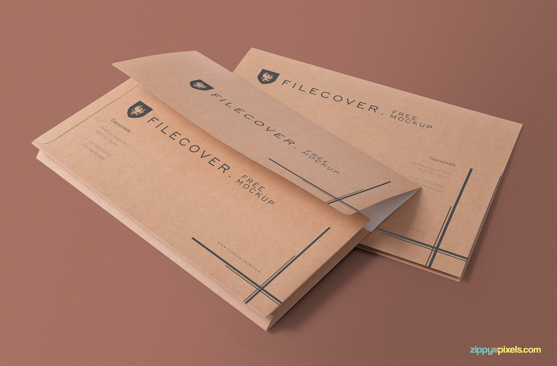 Add any design or color to the background of this folder mockup.