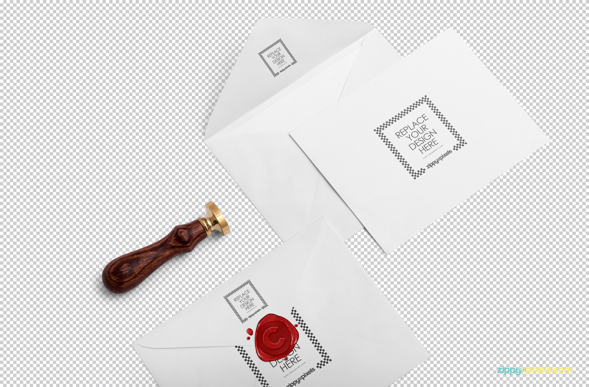 You can customize every single part of this invitation card mockup scene.