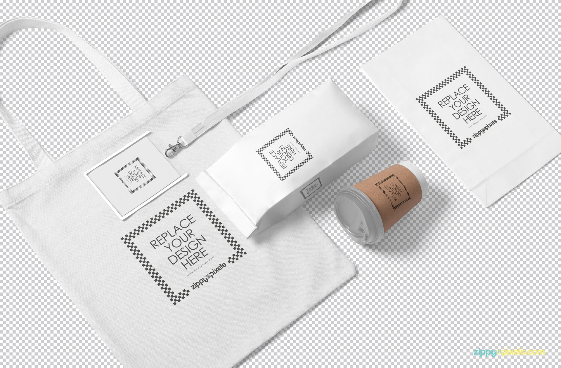 Use Photoshop to customize the whole packaging mockup scene.