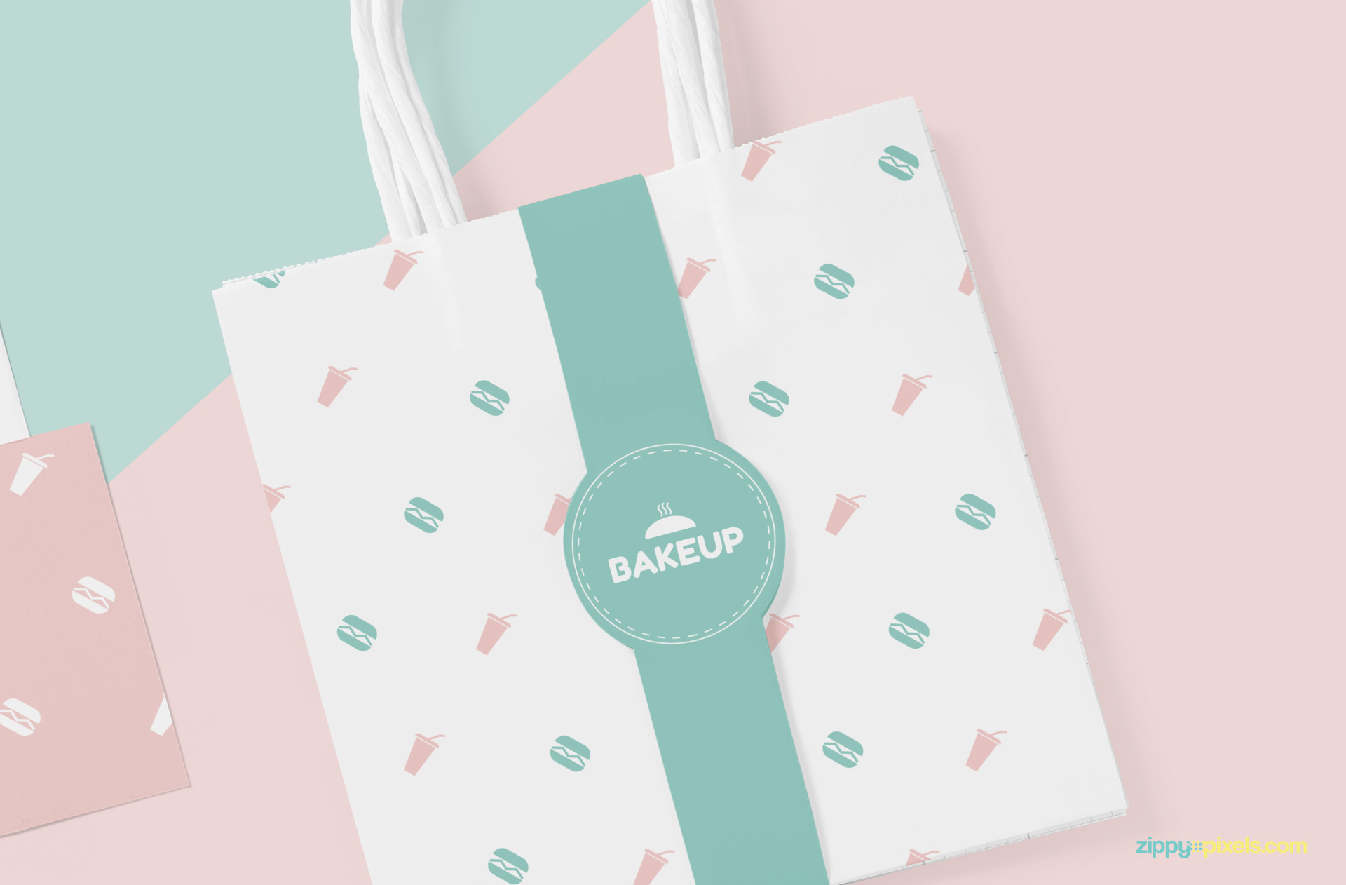 Changeable design of the tote bag label mockup.