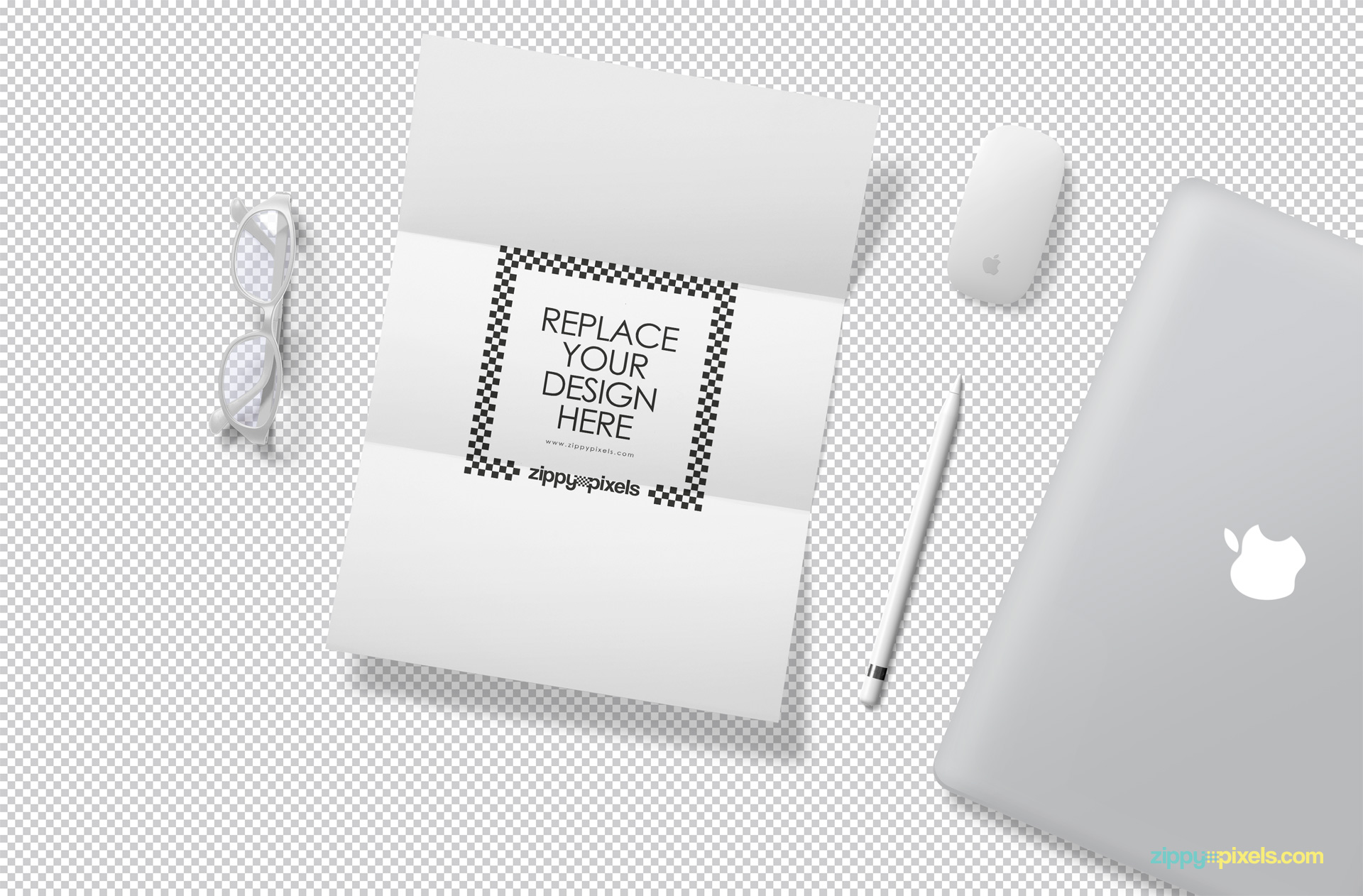 Use Photoshop to customize this letter mockup with your designs.