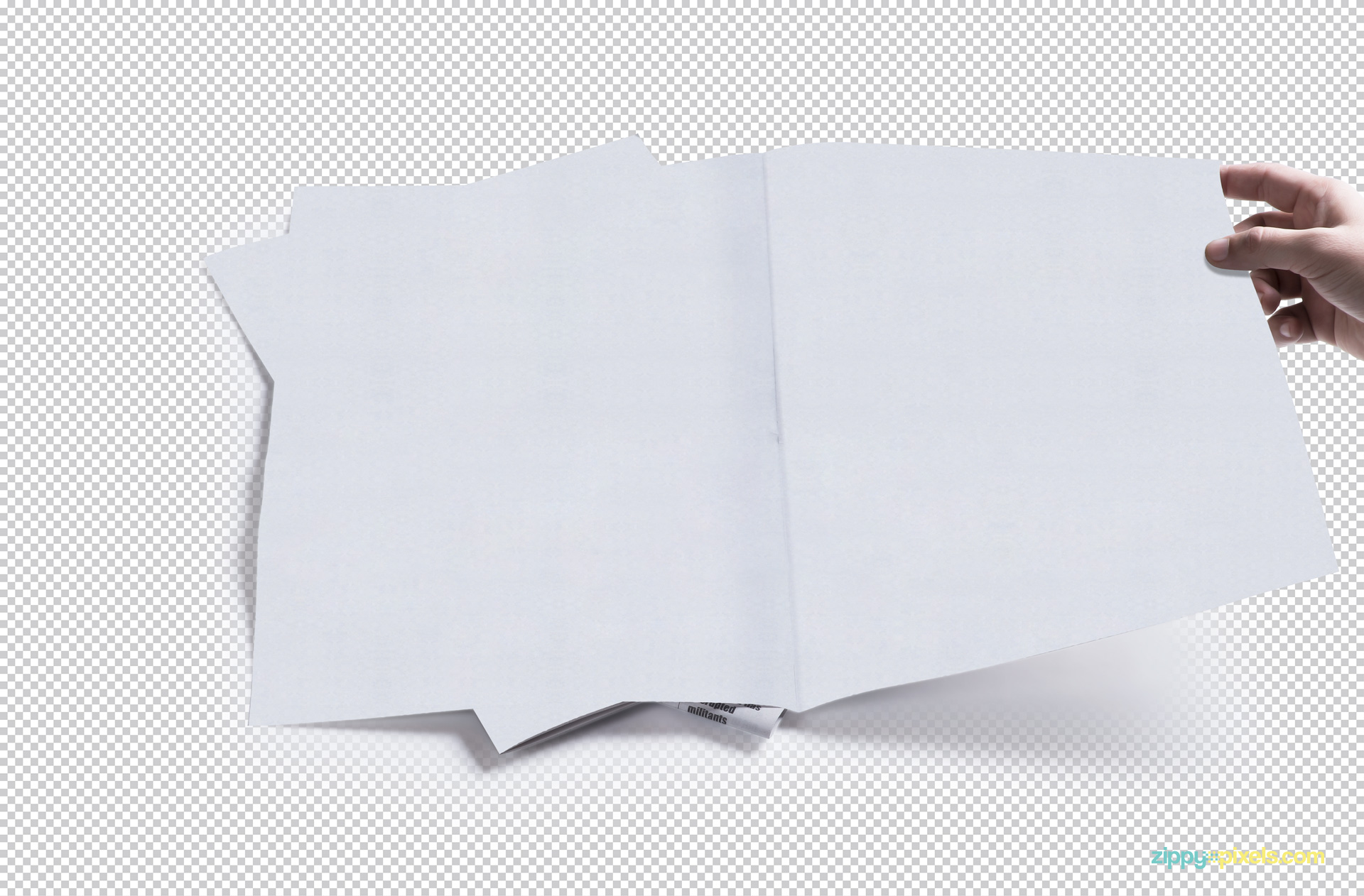Edit this plain white newspaper mockup in Photoshop.