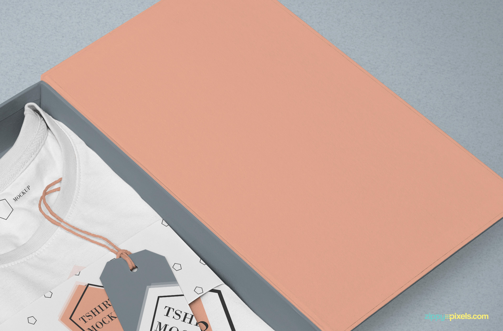 Customizable flap cover of box.