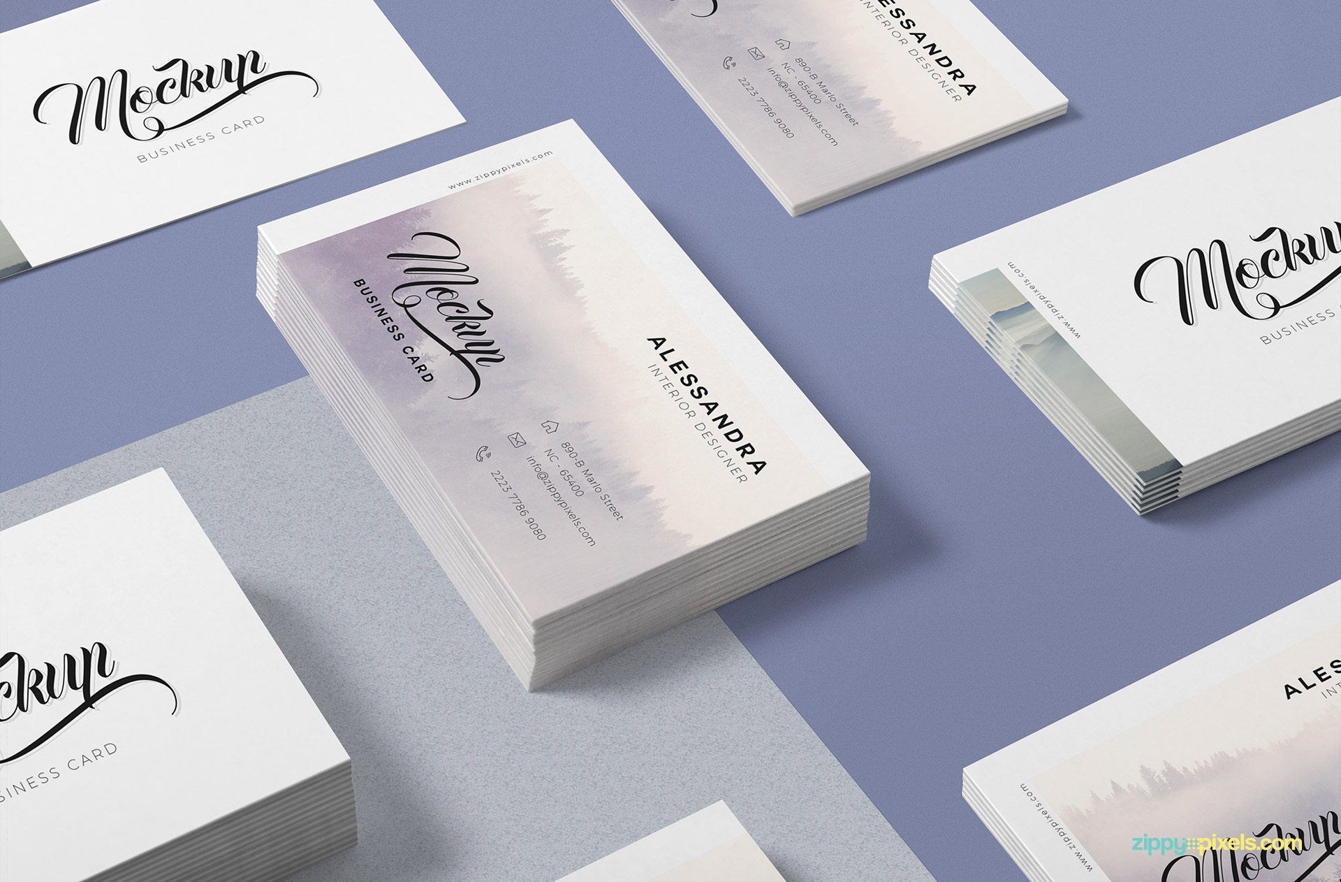 Elegantly designed free business card mock up.