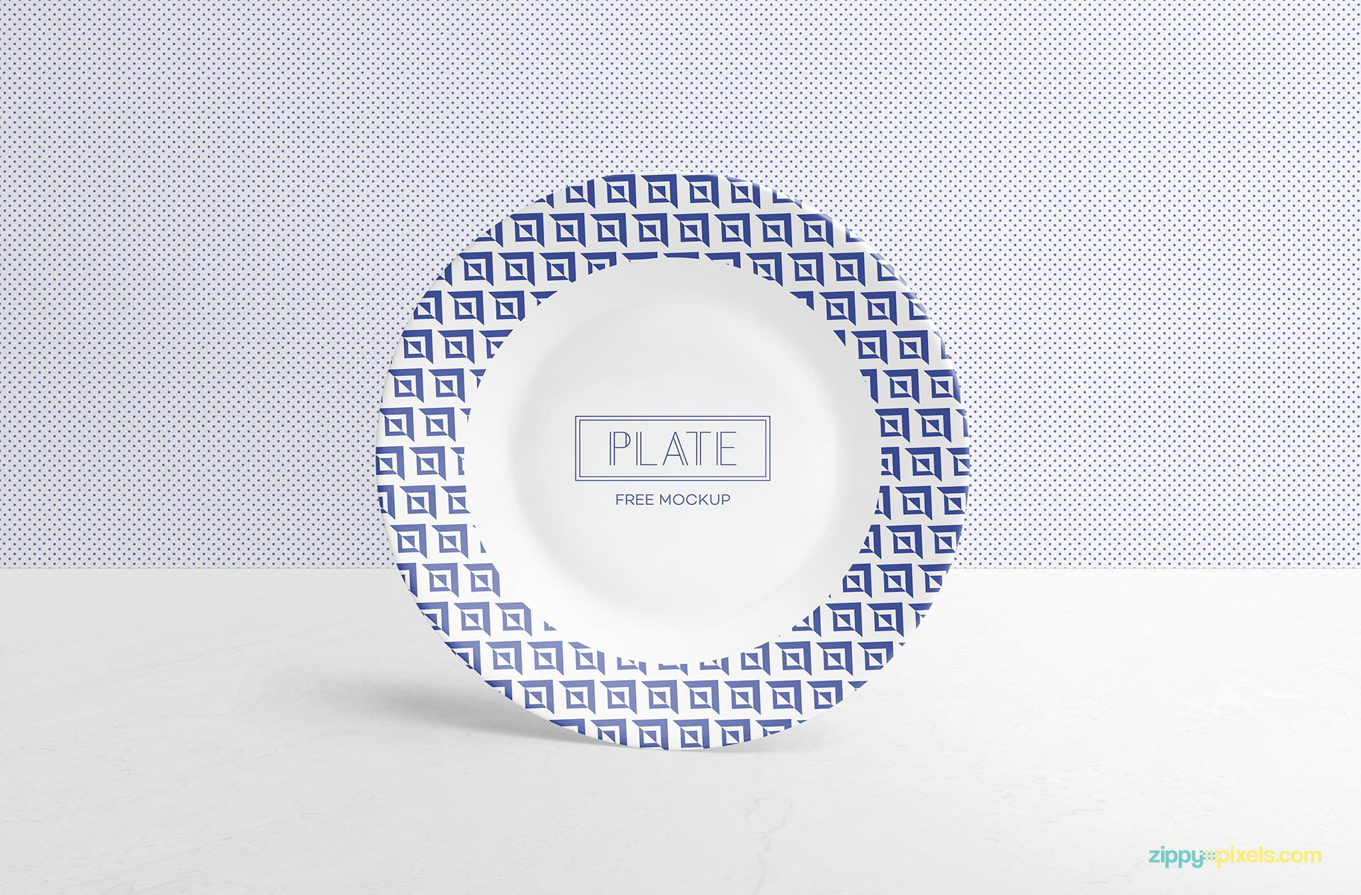 Fully customizable dinner plate mockup.
