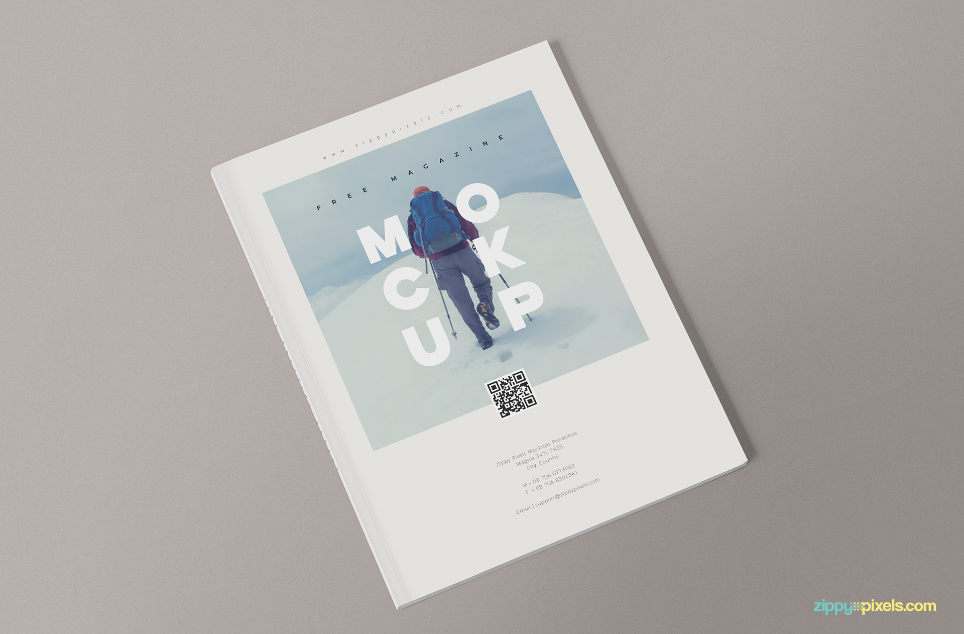 Beautiful magazine mockup PSD.
