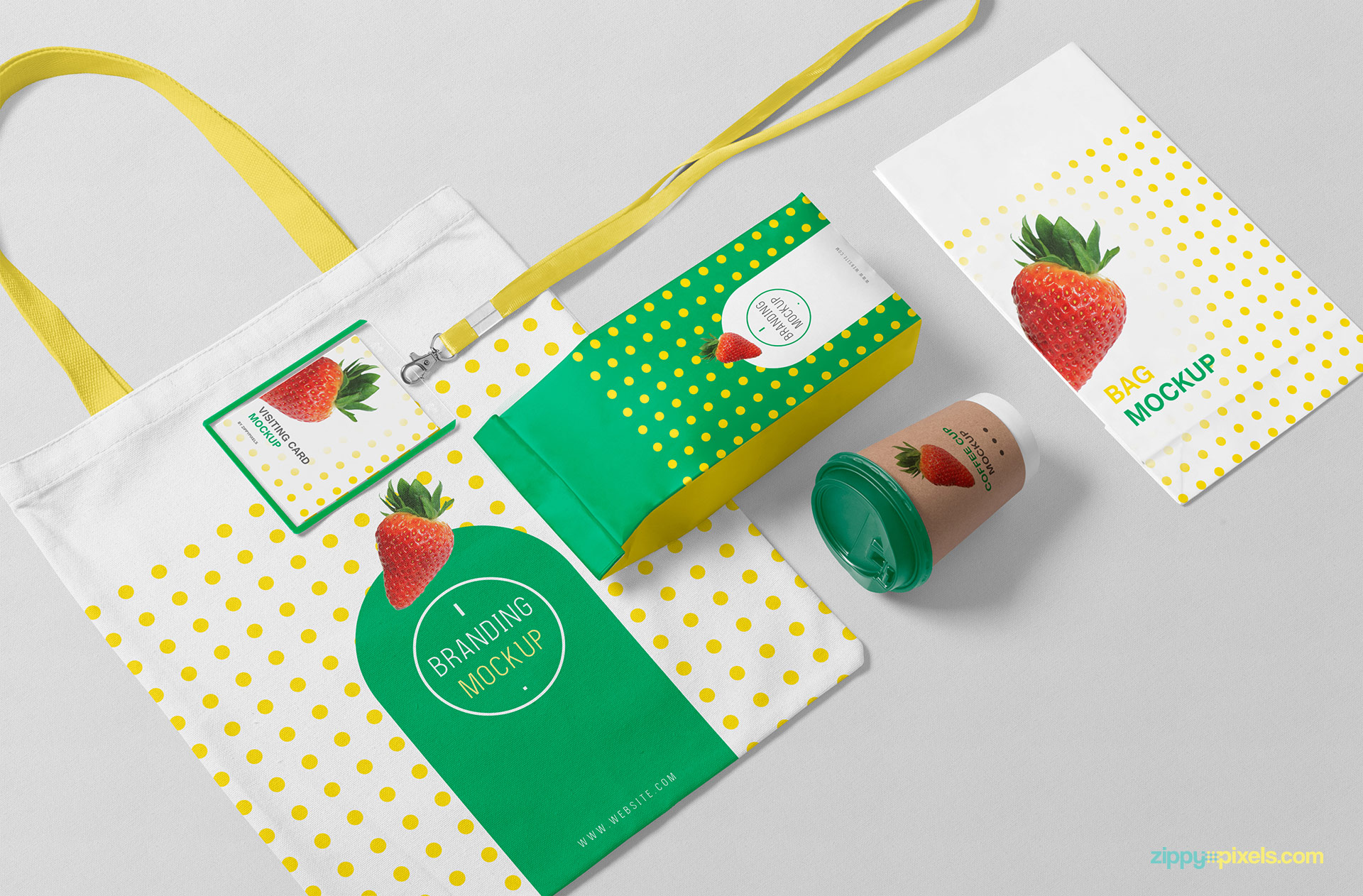 Fully customizable free packaging mockup.