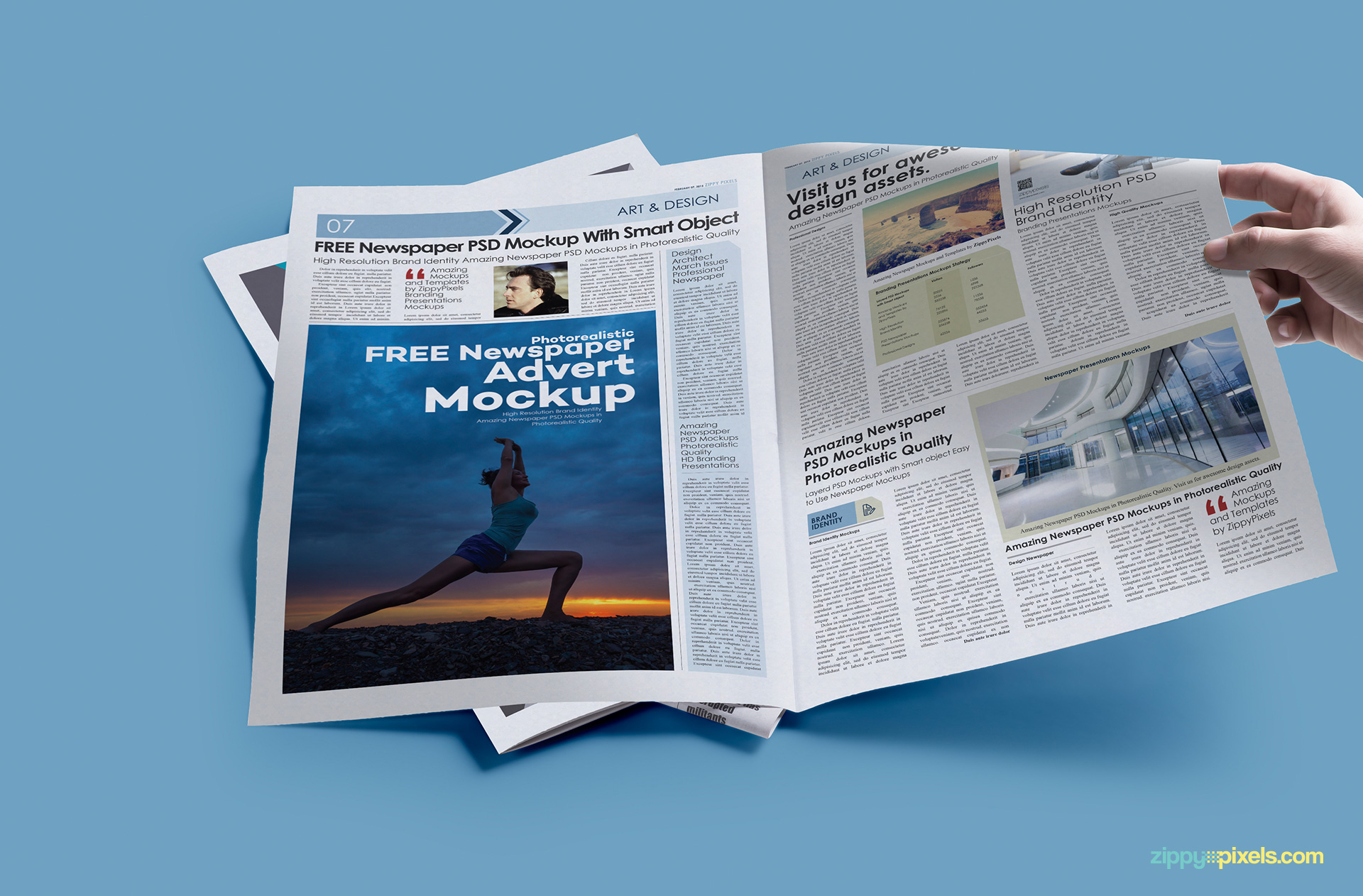 PSD of free print ad mockup.
