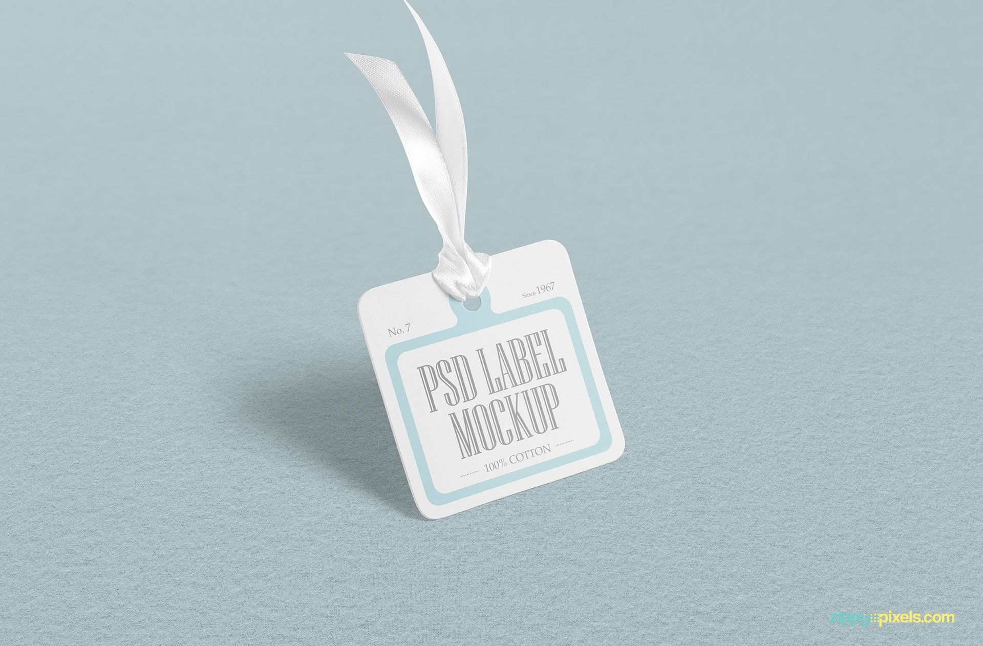 Fully customizable label tag mockup PSD.