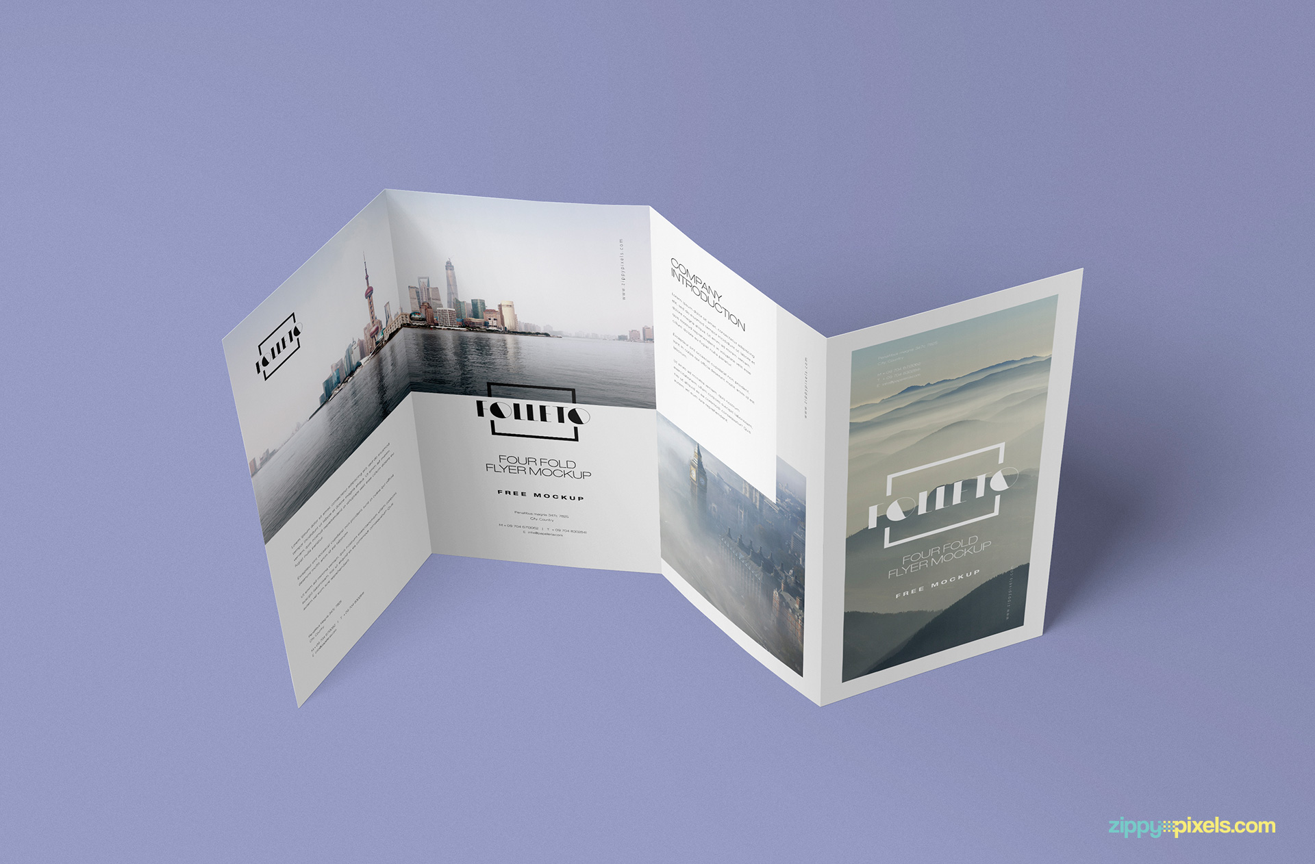 Light effects of mockup to make your brochure realistic.