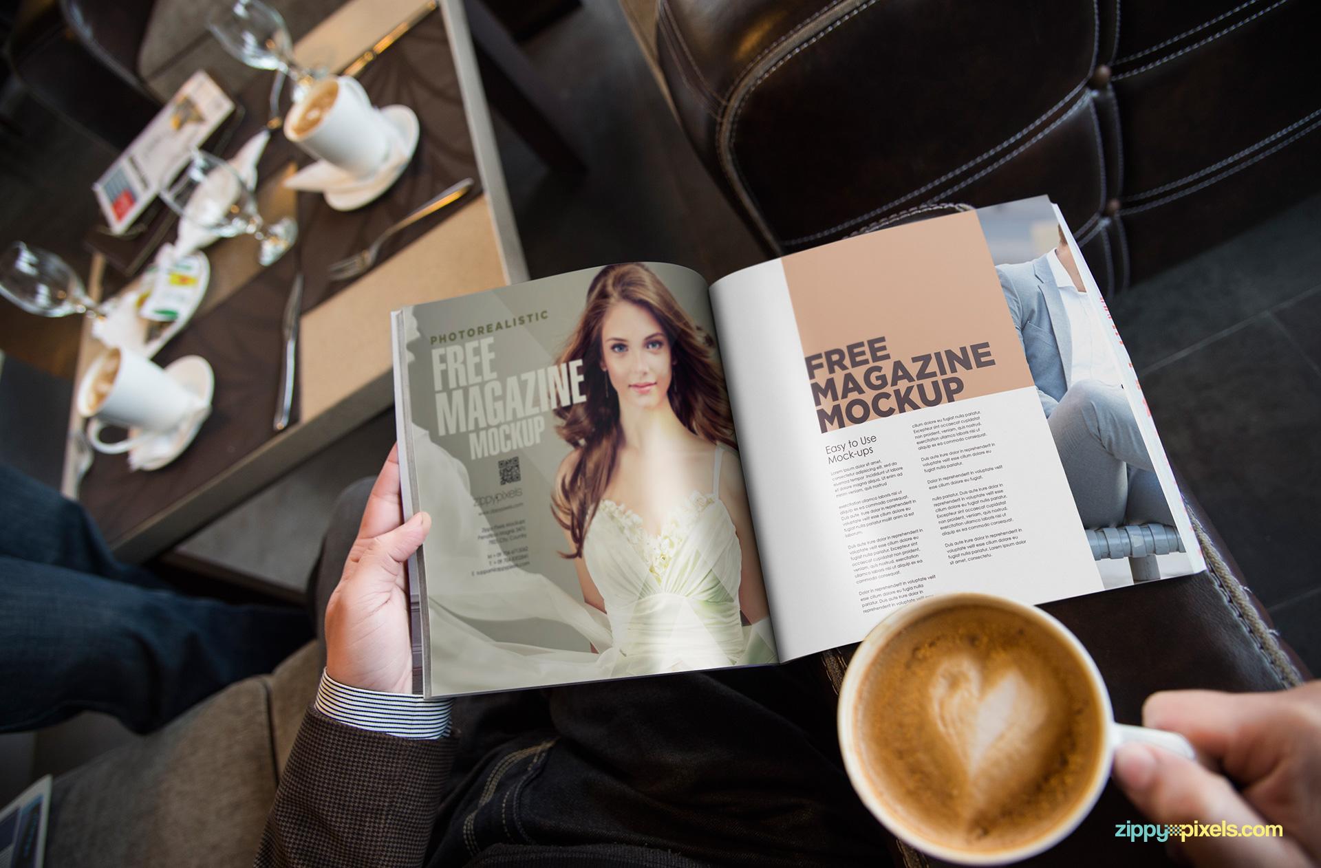 Free magazine ad mockup PSD.