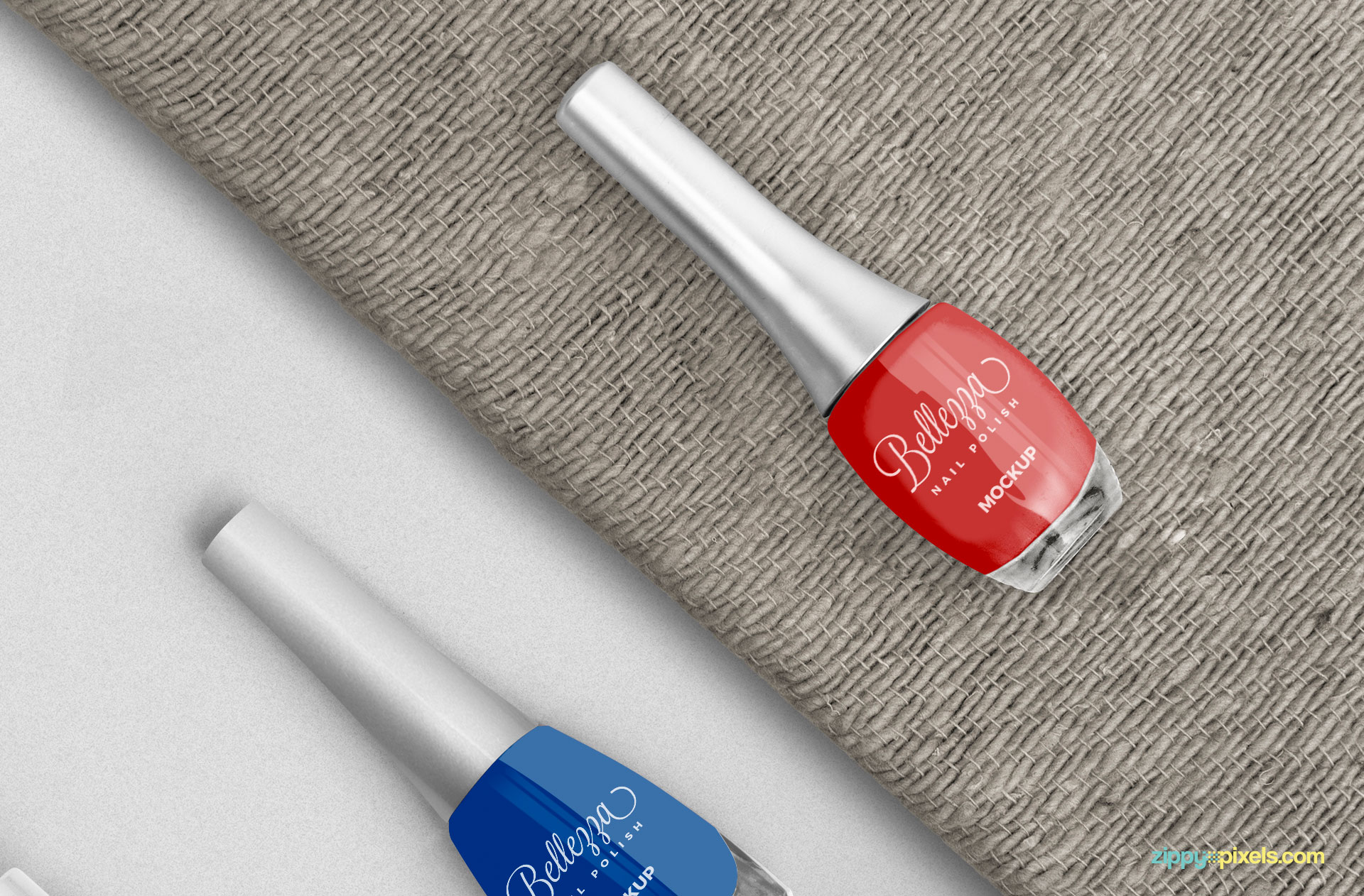 Change the color of the nail polish and cap of the bottle.