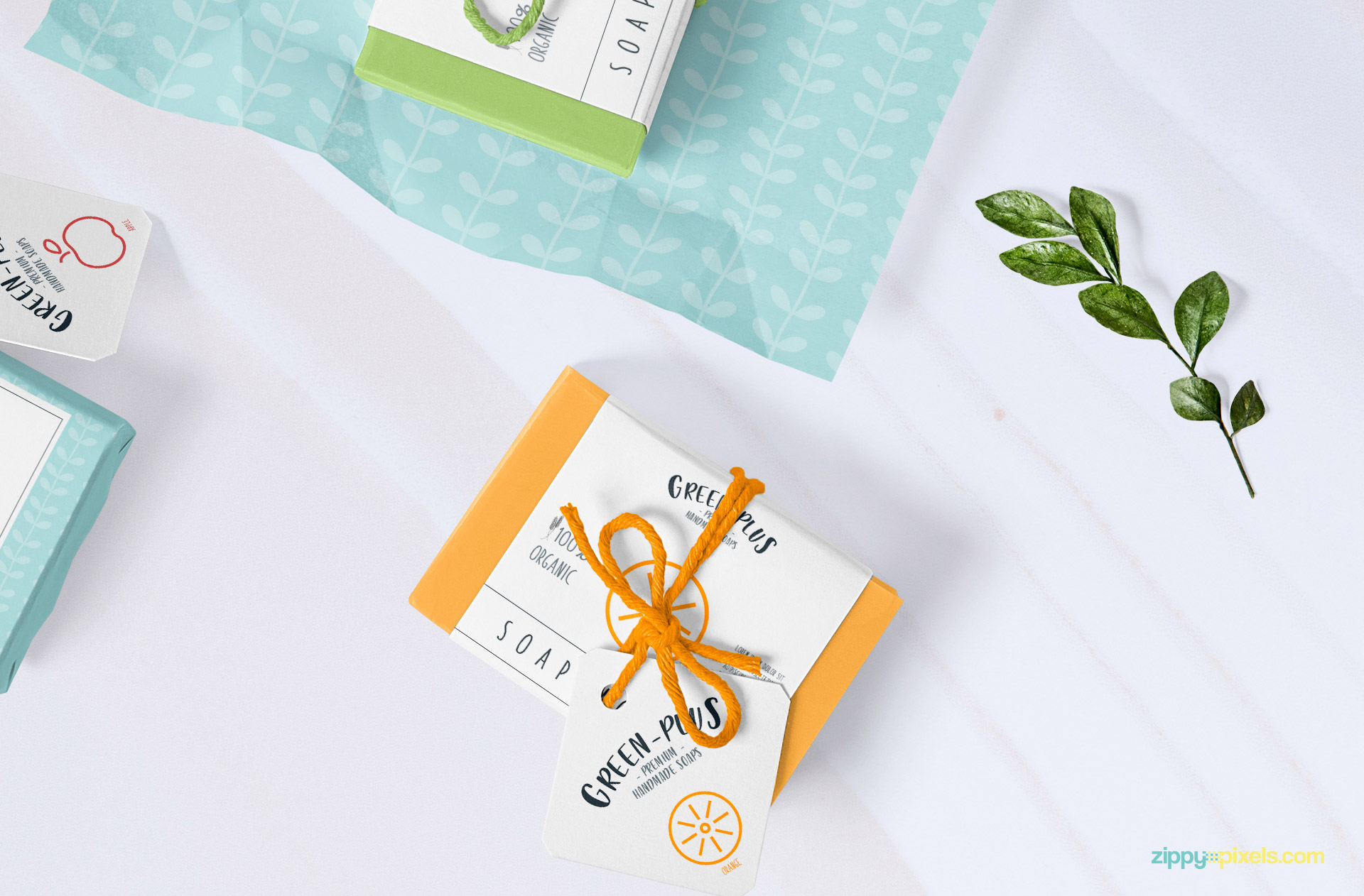 Editable packaging sleeve of the soap.