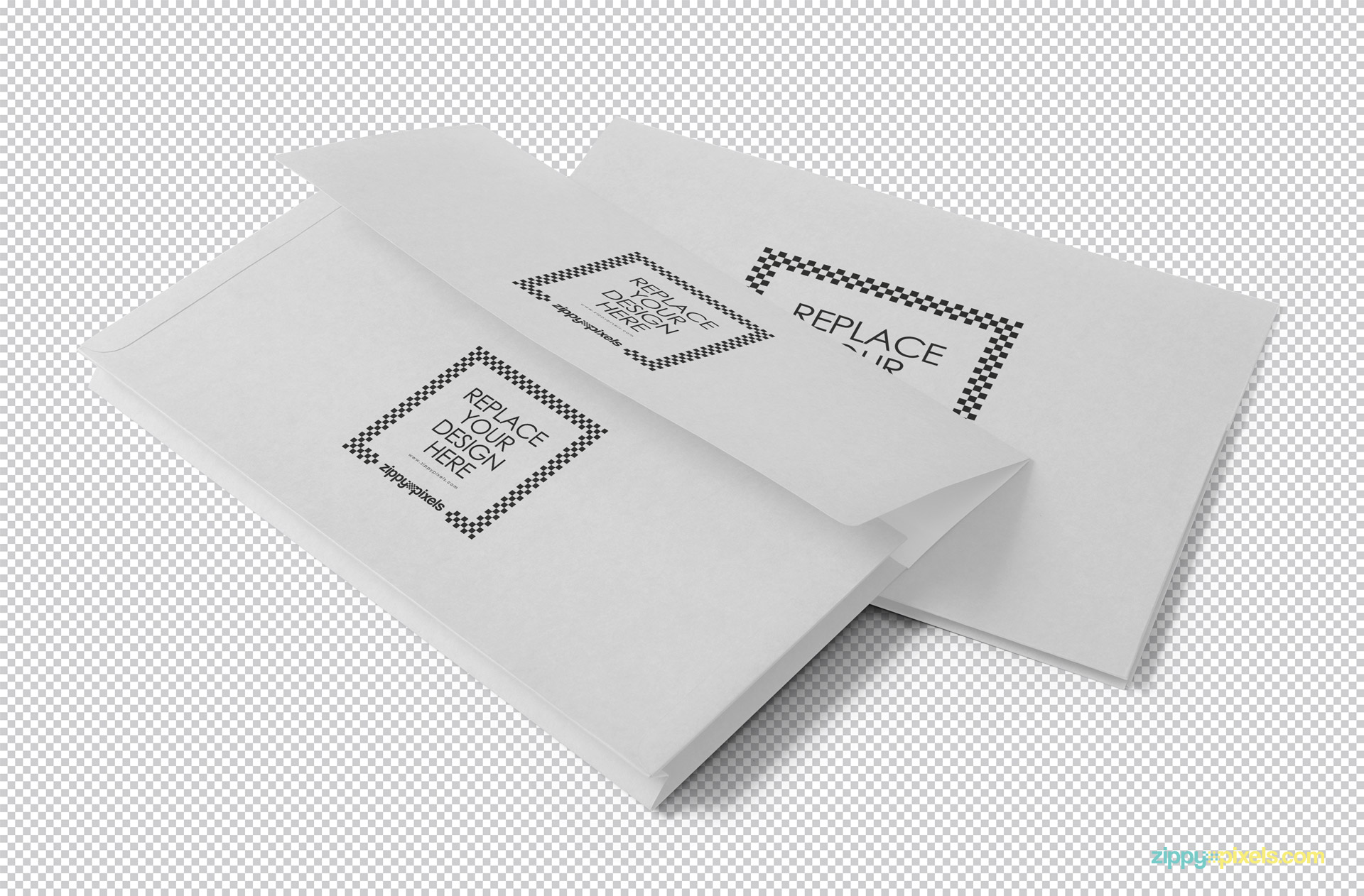Two plain white file covers with greyscale background.