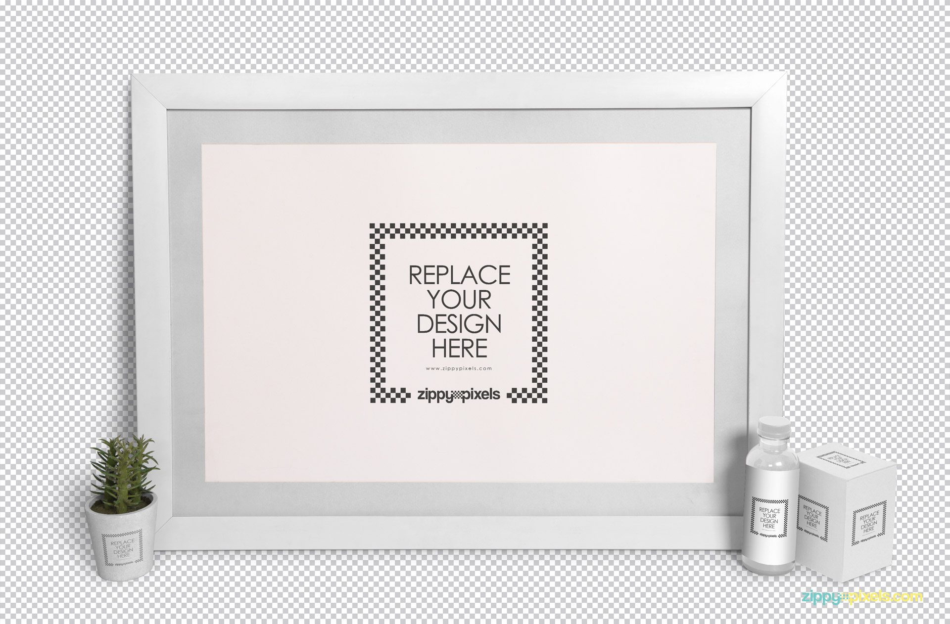 Easy to customize plain frame mockup scene.