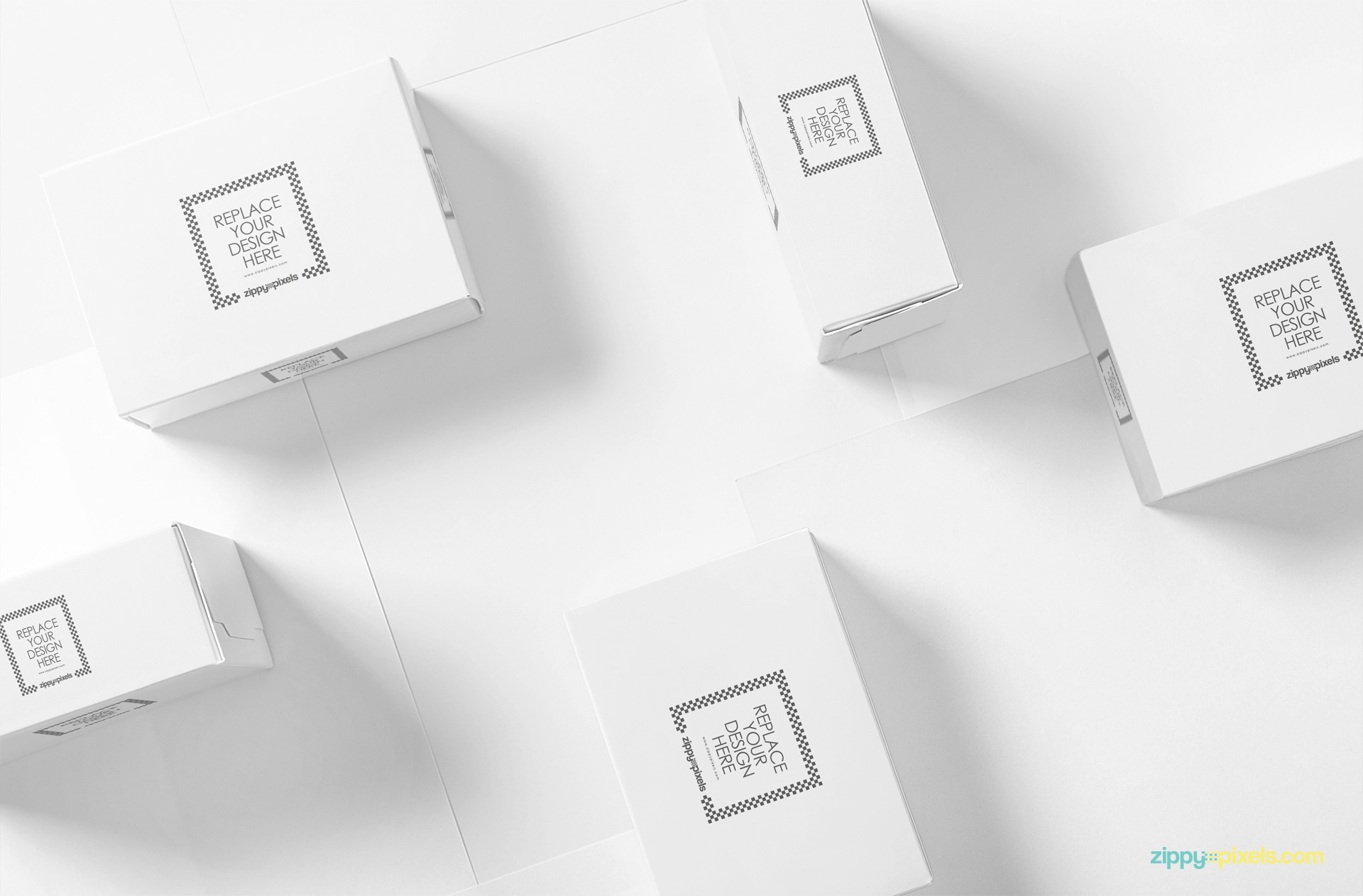 Plain white packaging box mockup.