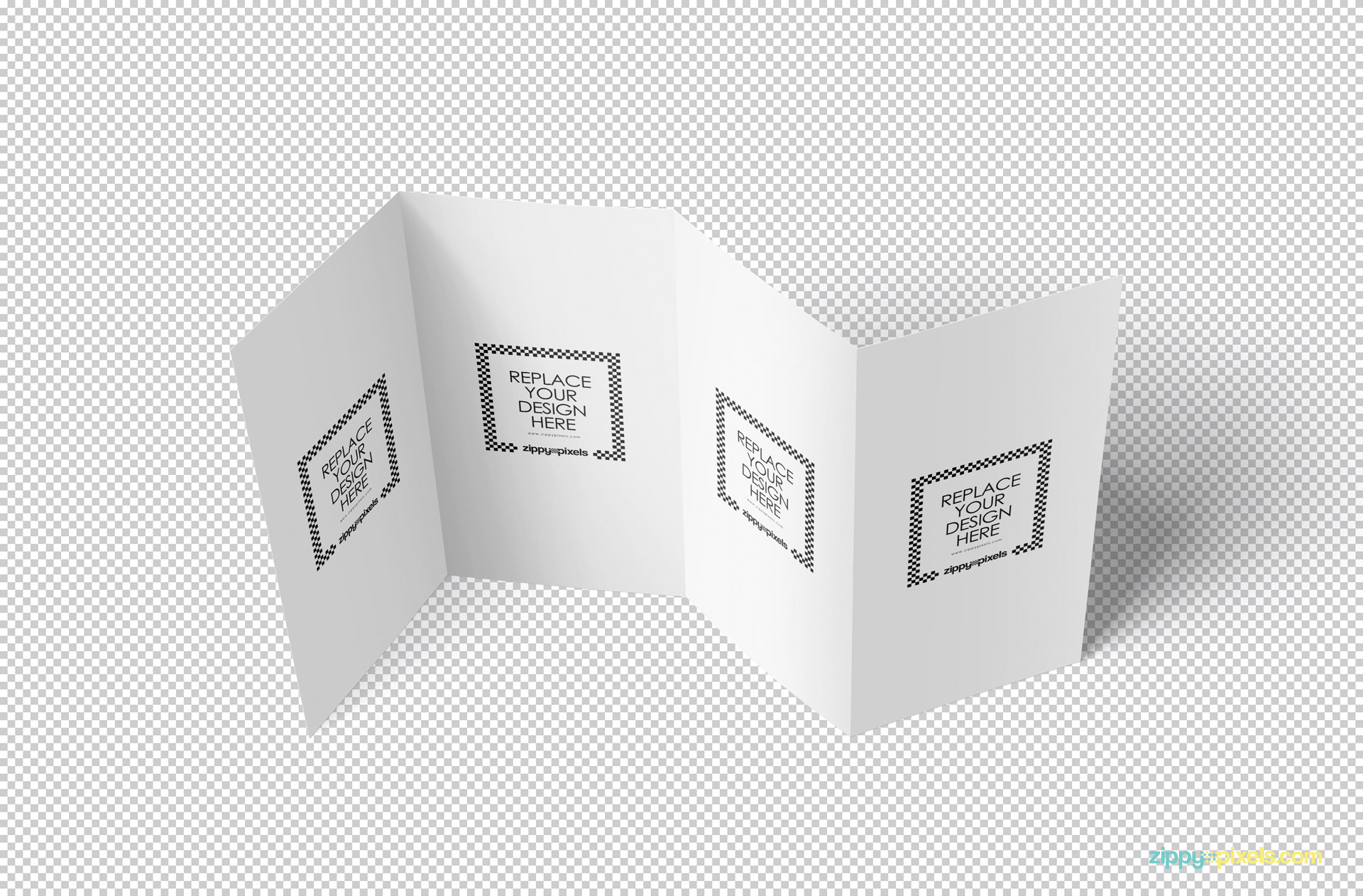 Edit this plain white brochure PSD mockup with Photoshop.