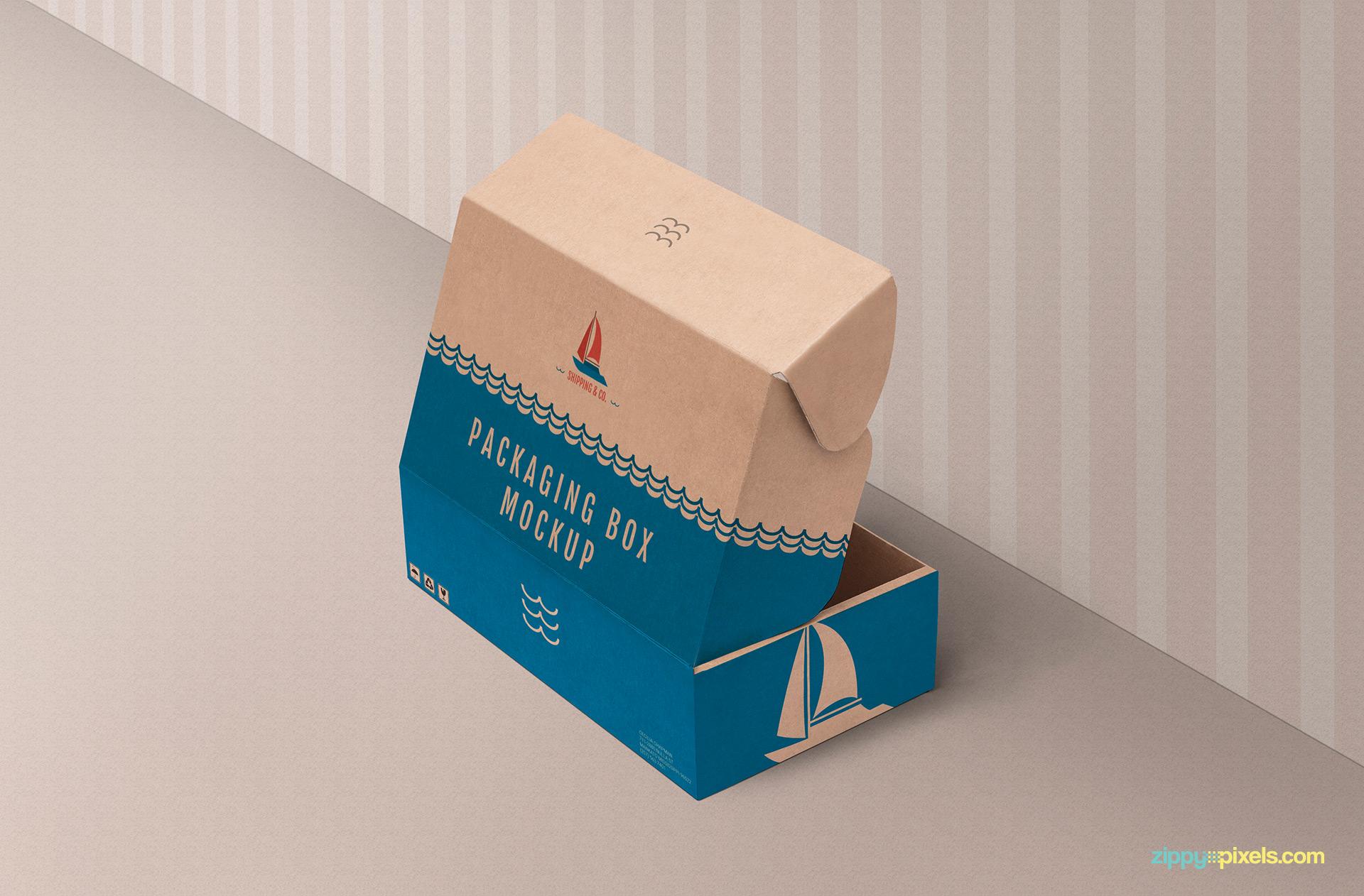 Free product box mockup.
