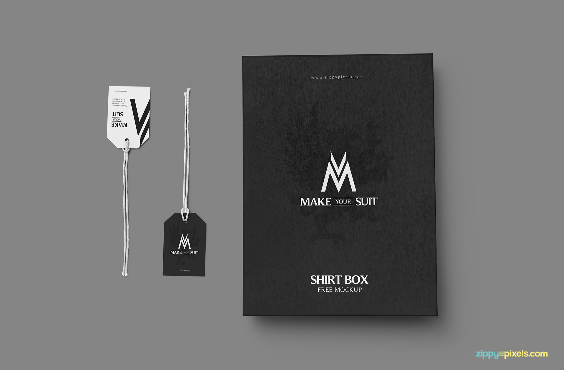 Free product packaging mockup.