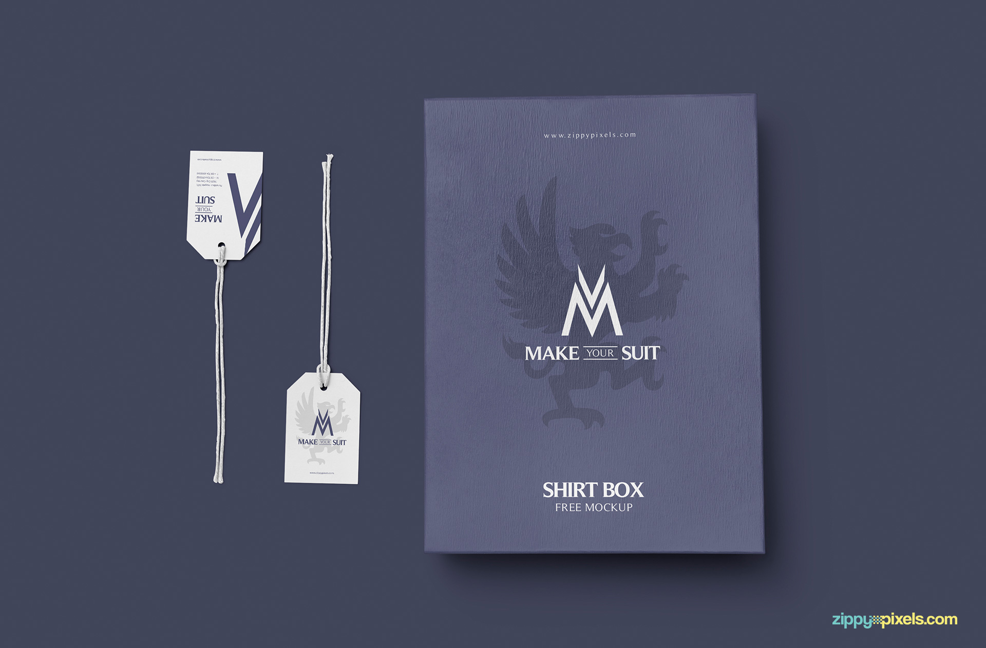 Free and realistic apparel box mockup.