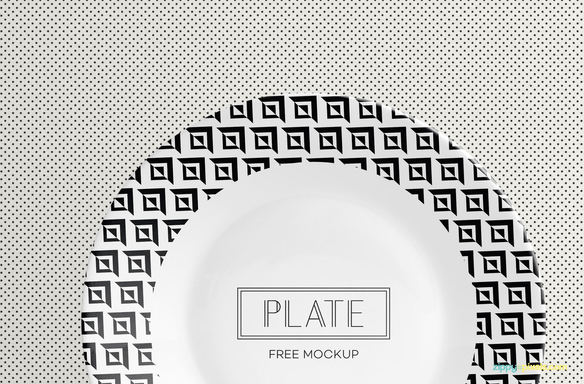 Use any design for this round shape mockup.
