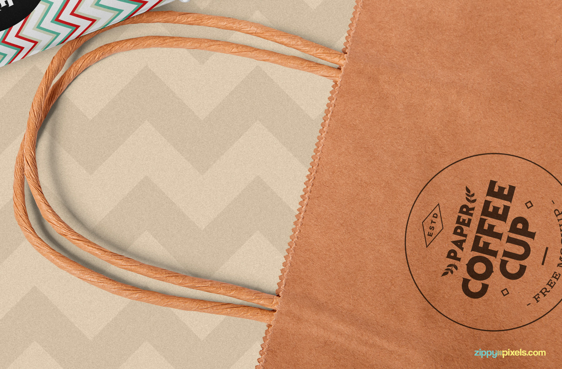 Add your designs in this shopping bag mockup.