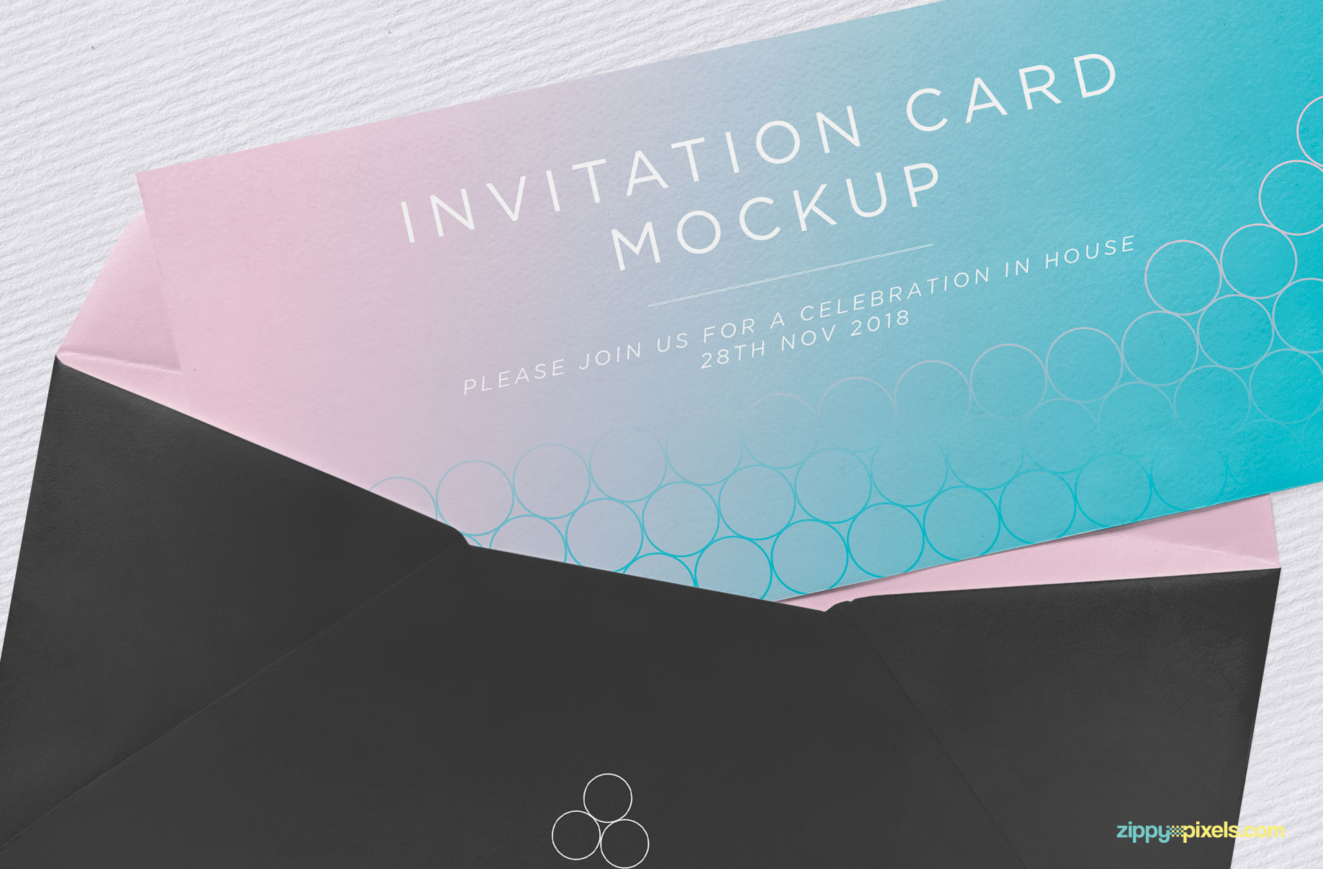 Try out the invitation mockup PSD.