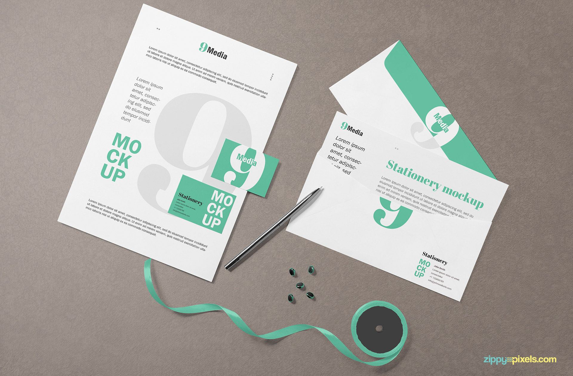 Fully customizable stationery branding designs.