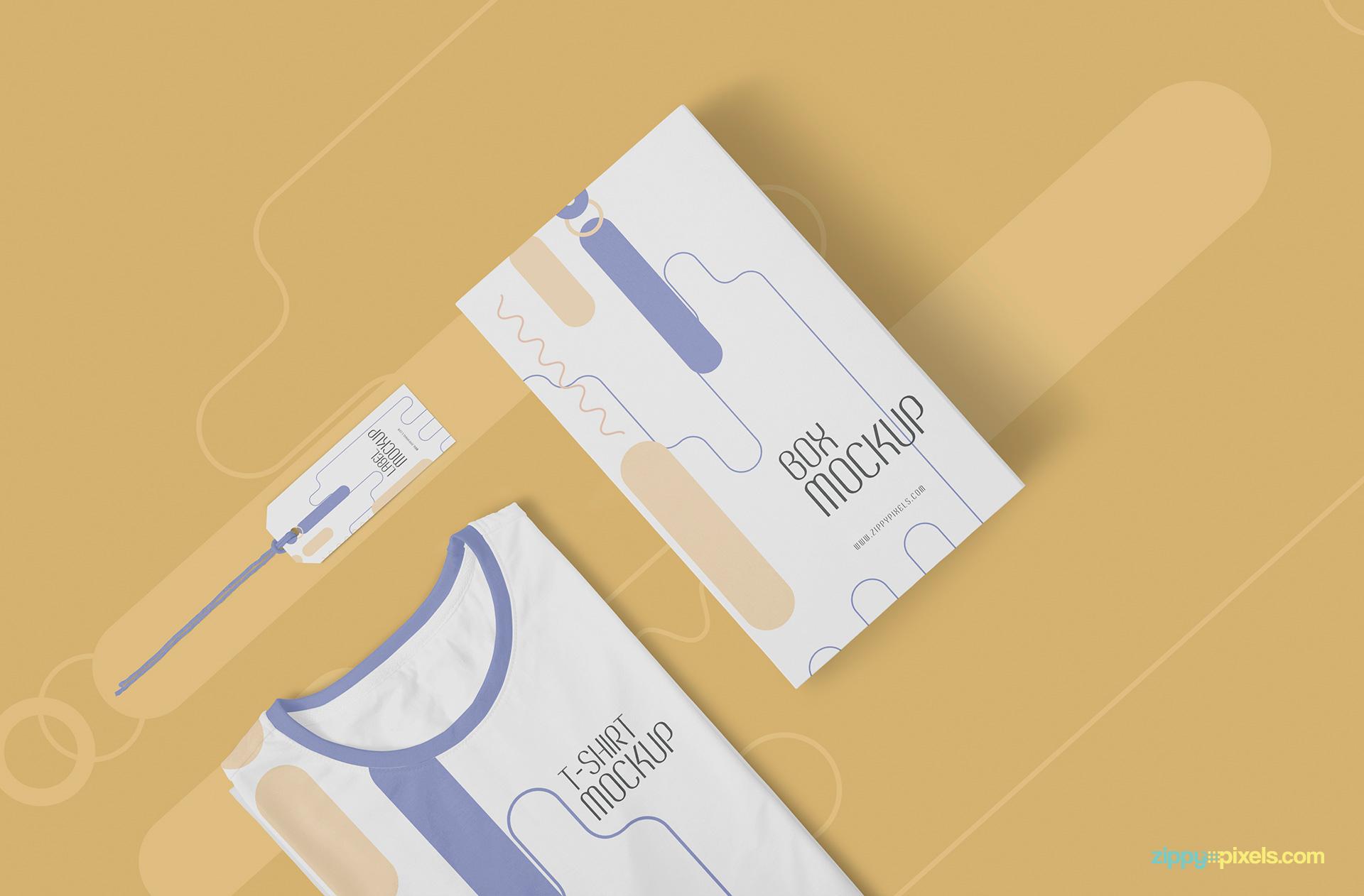 Free TShirt Mockup Template ZippyPixels - Property of t shirt template