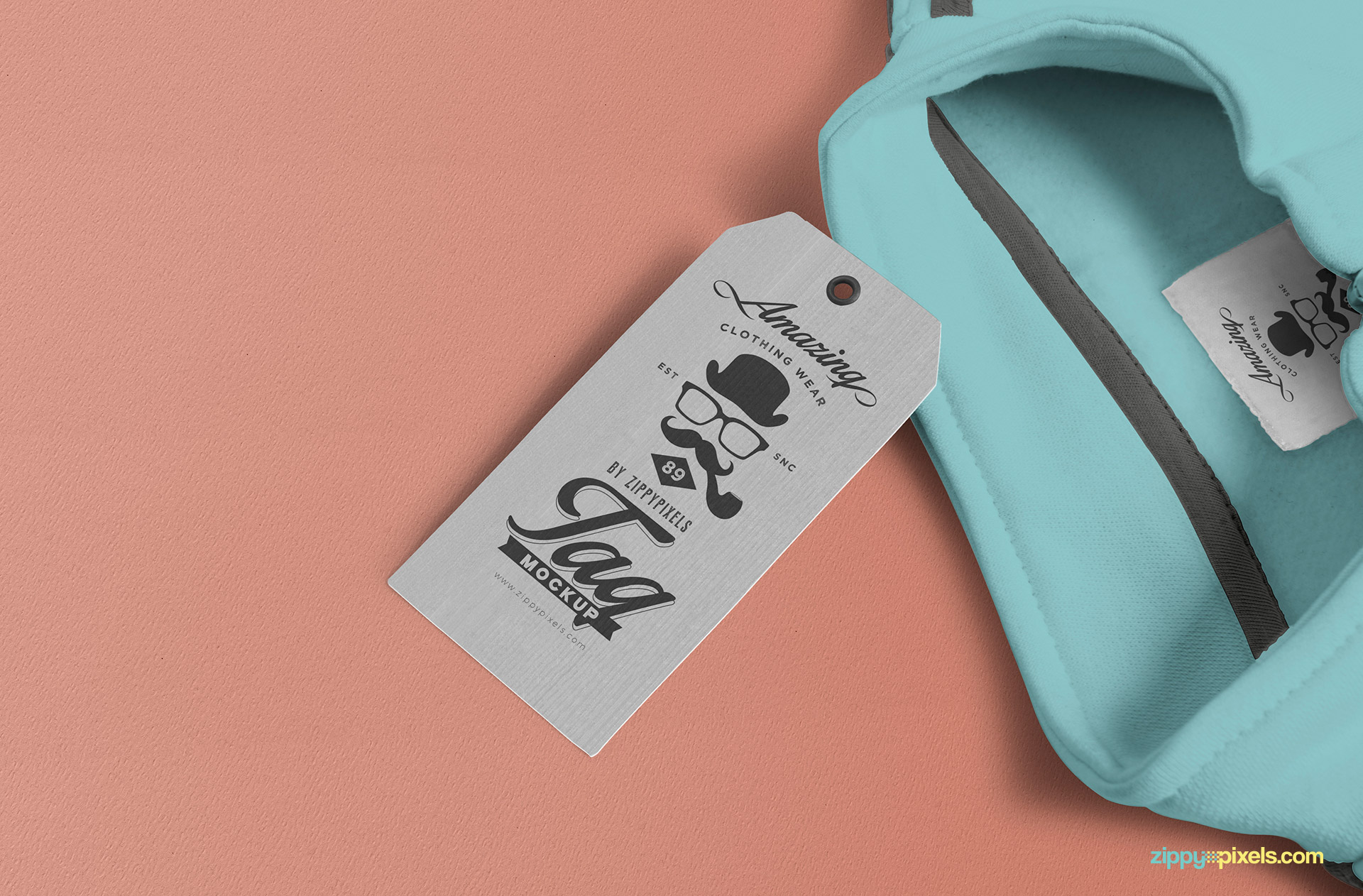 Free tag and inner label mockup.