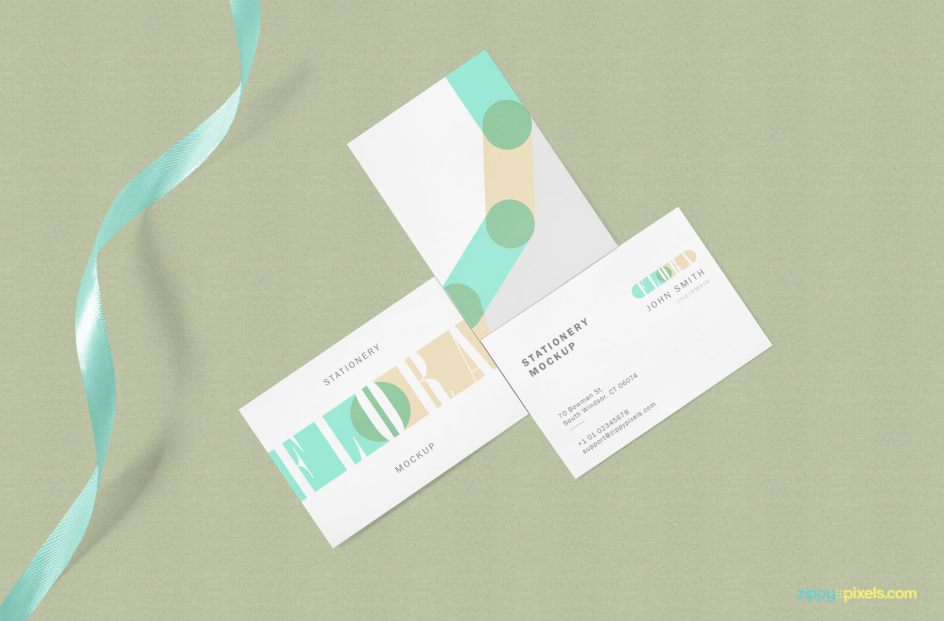 Fully customizable three business cards.