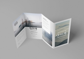Free Photo-realistic Folded Brochure Mockup