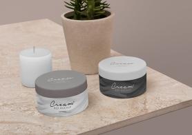 Free Amazing Cosmetic Jar Mockup