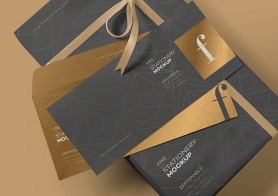 Free Luxury Envelope Mock Up