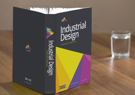 Free Standing Book Mockup PSD