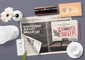 Free Newspaper Mock Up PSD