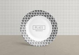 Free Ceramic Plate Mockup