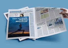 Free Print Ad Mockup PSD