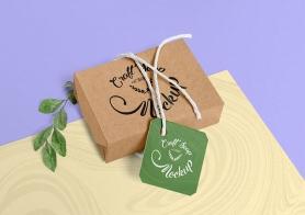 Free Craft Soap Box Mockup