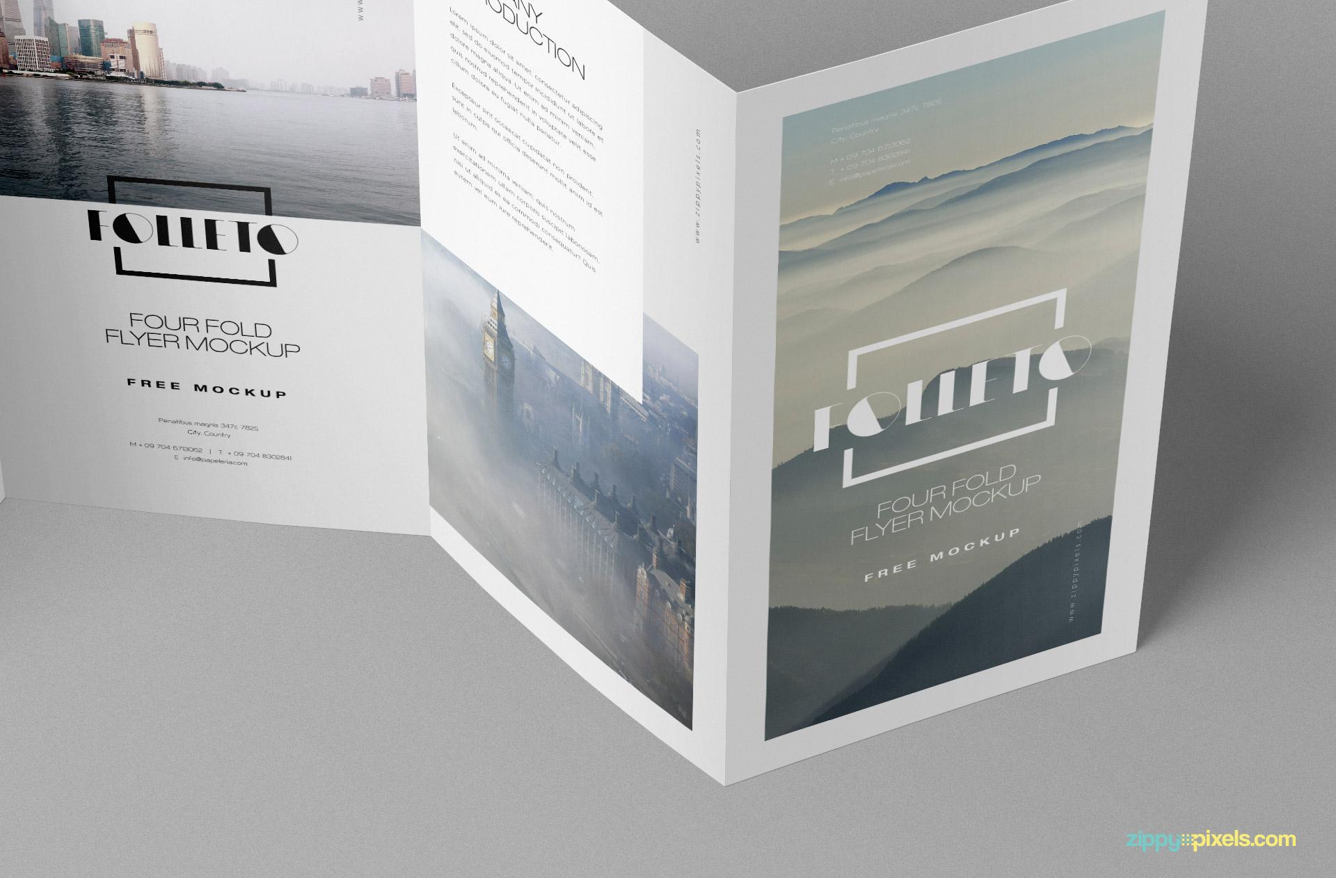 Z-fold brochure mockup.