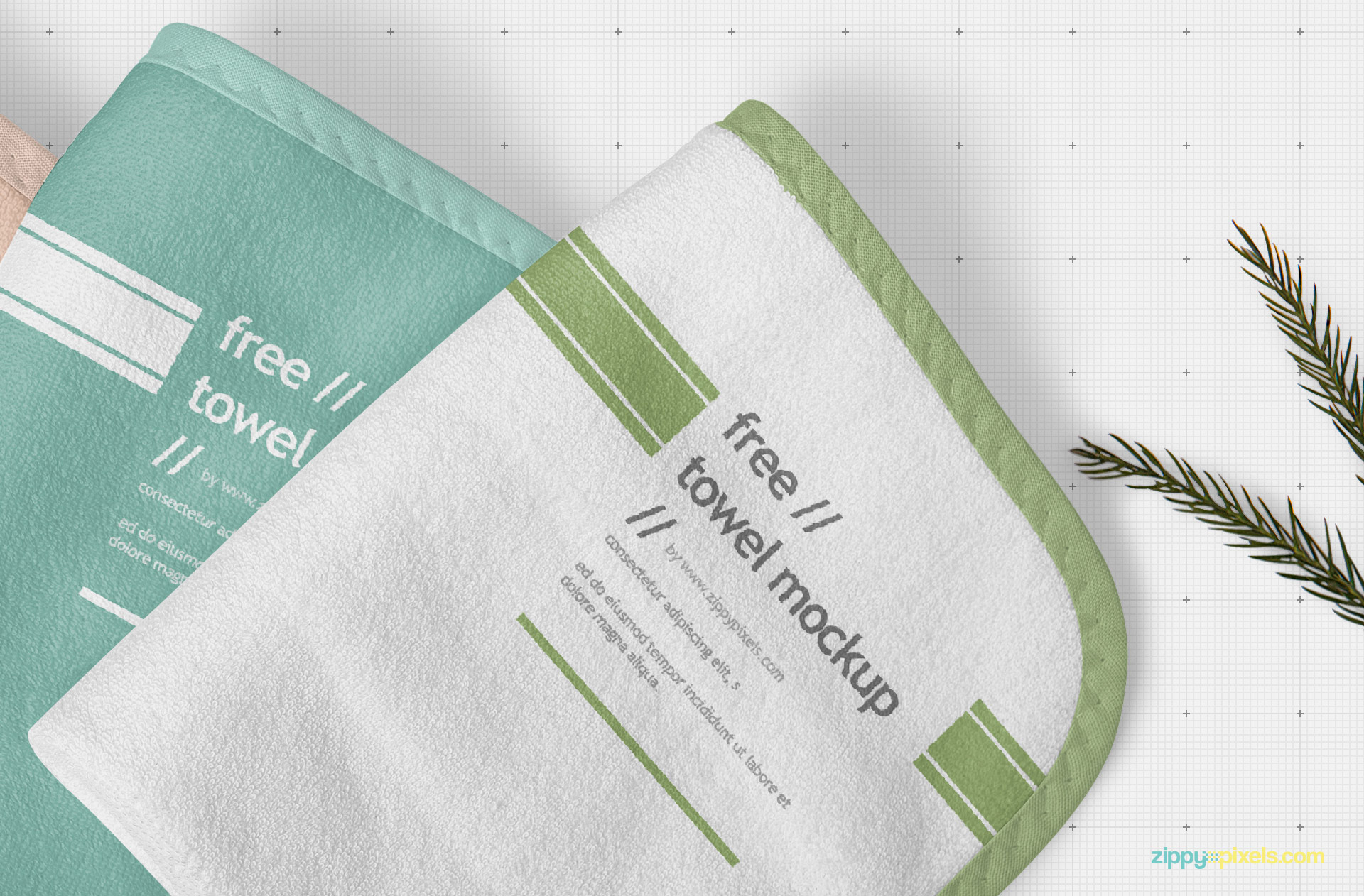 Adjust the shadows and colors of the towel mockup.
